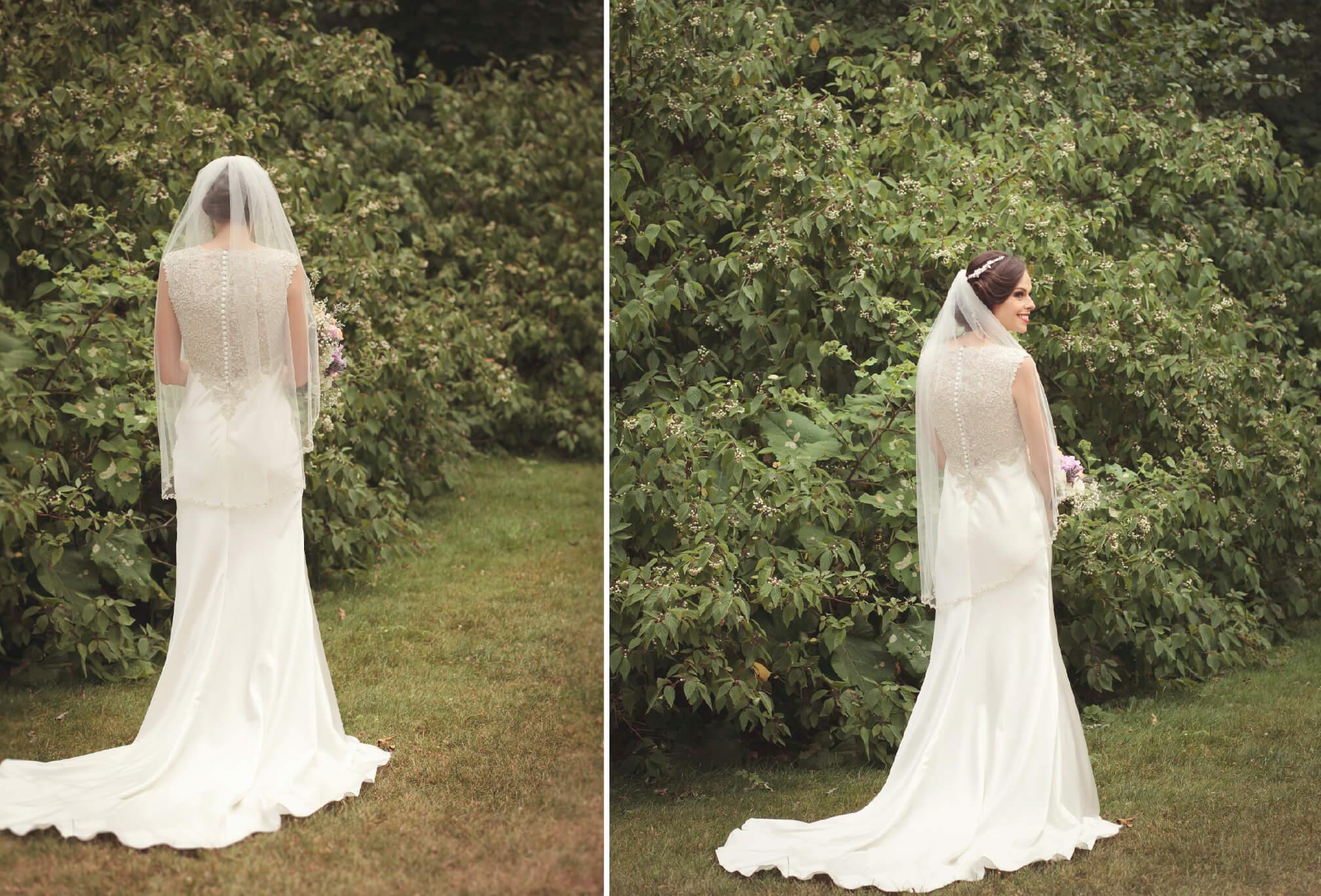 bride at harding waterfront estate