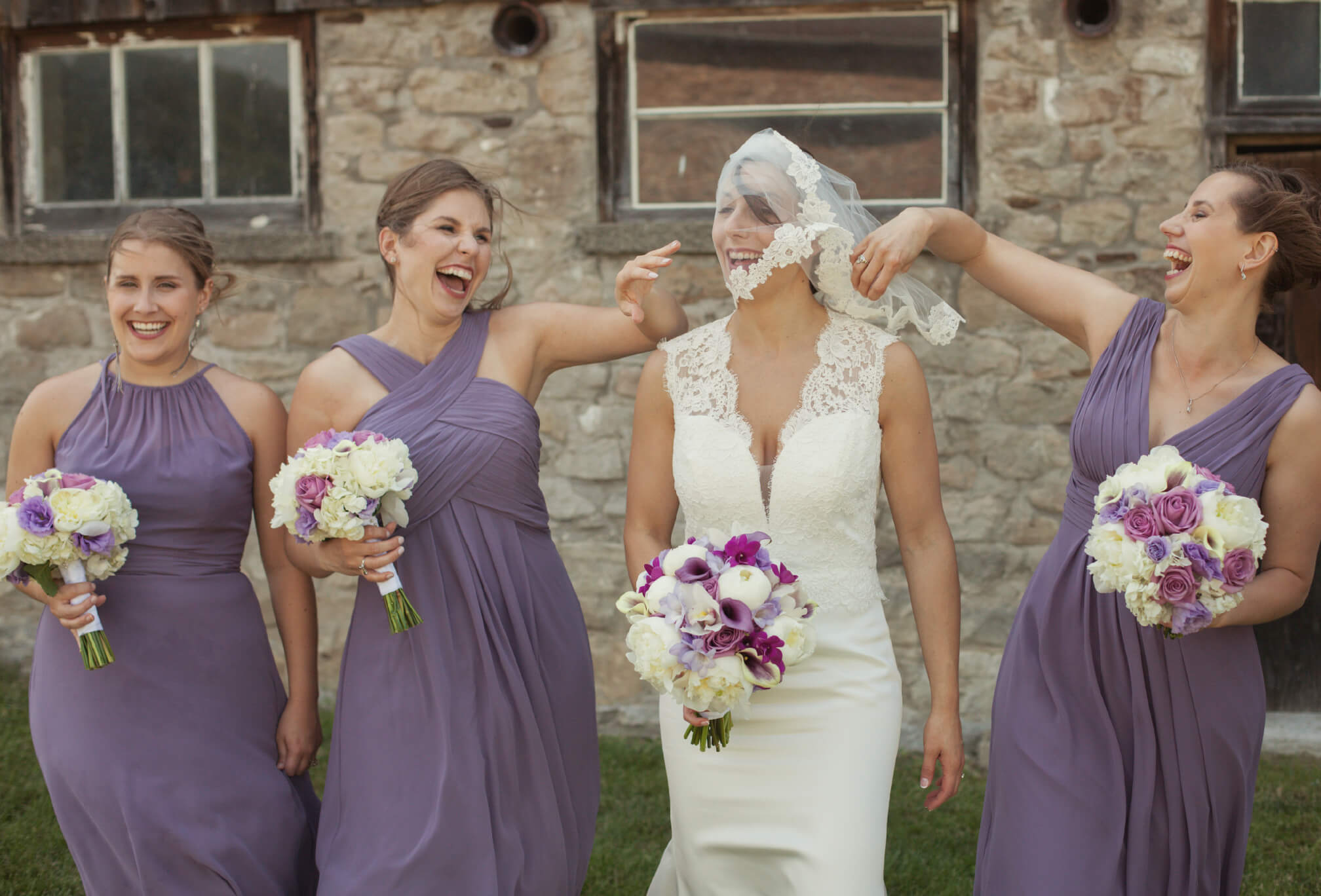 laughing bridesmaids photography