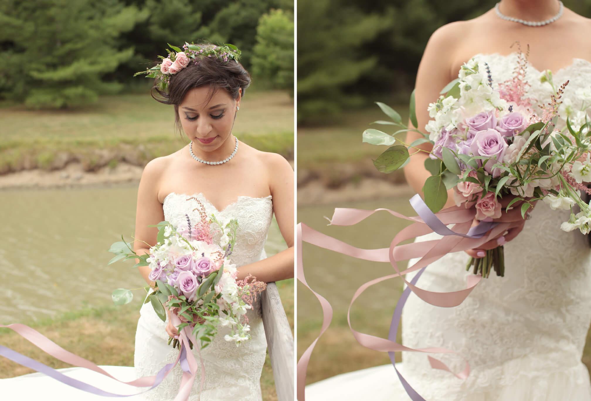 gorgeous bride floral crown