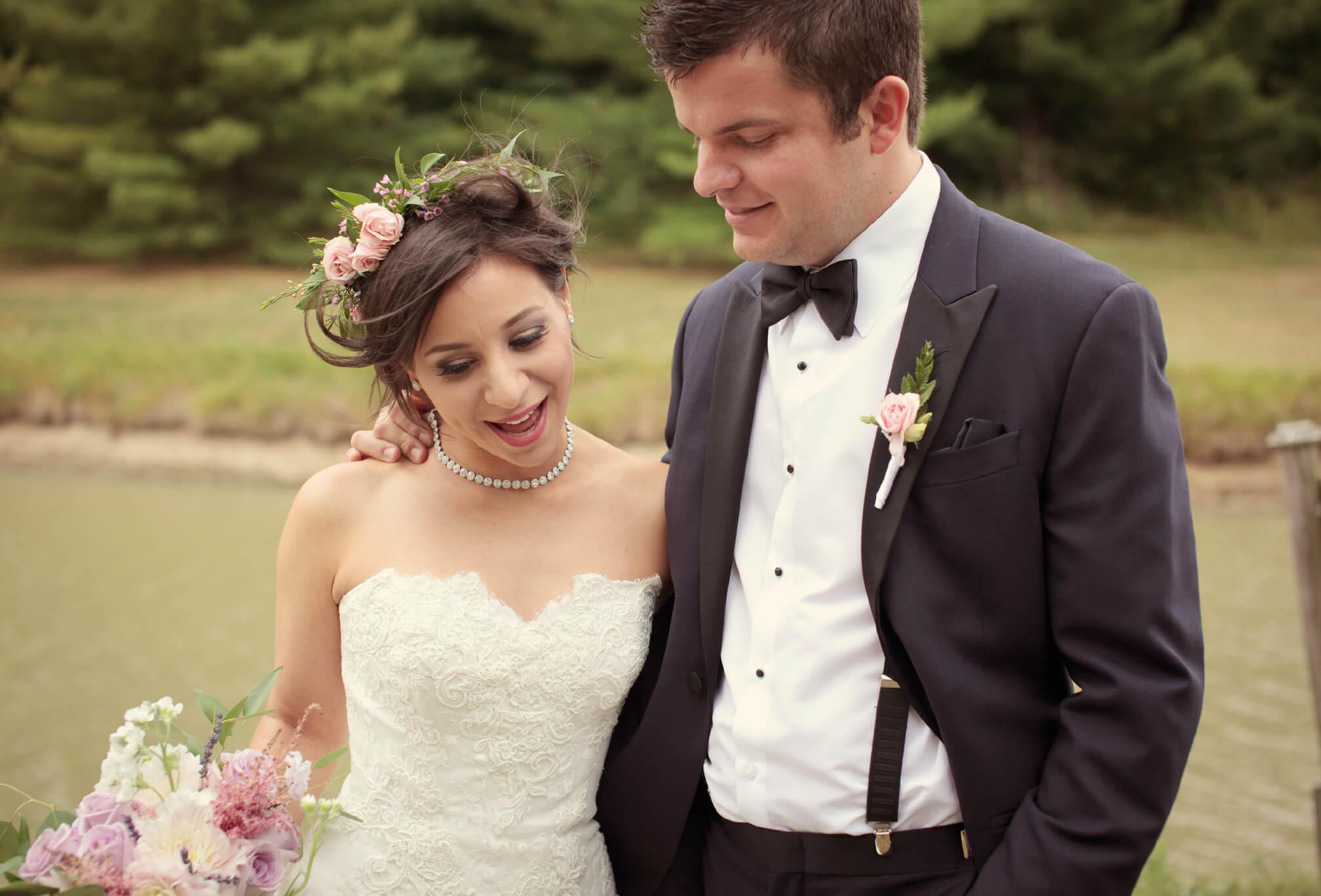 bride and groom knollwood golf club