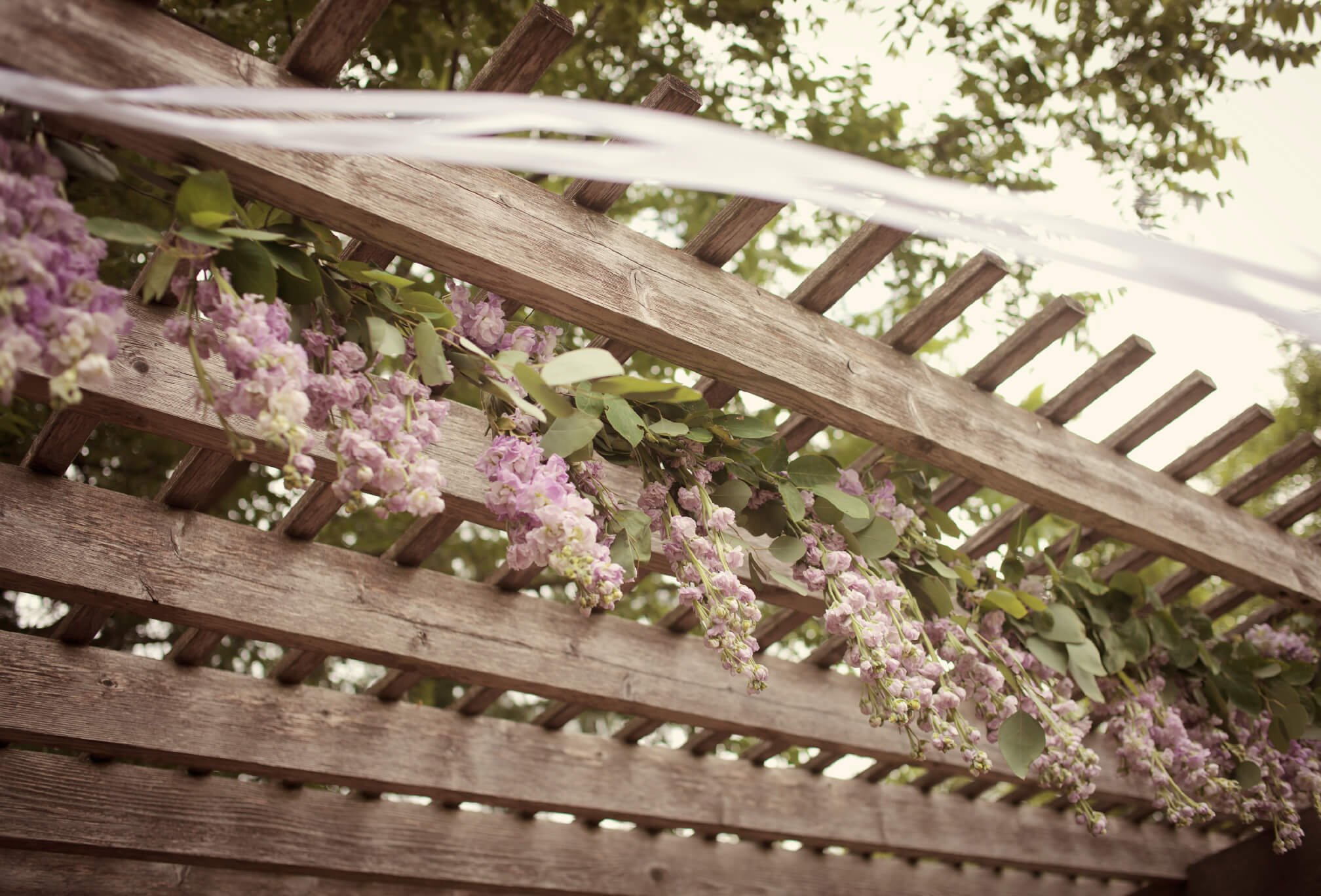 gorgeous wedding floral arbor