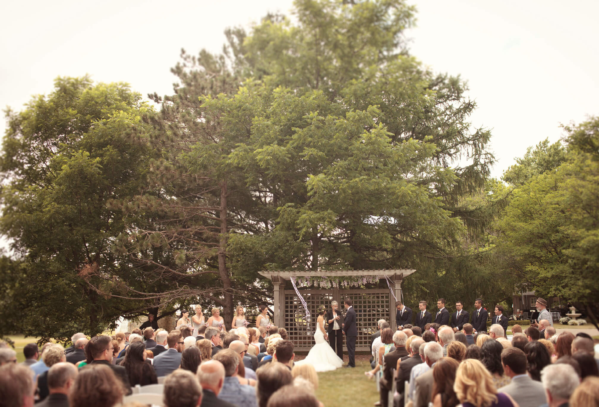 outdoor ceremony knollwood golf club