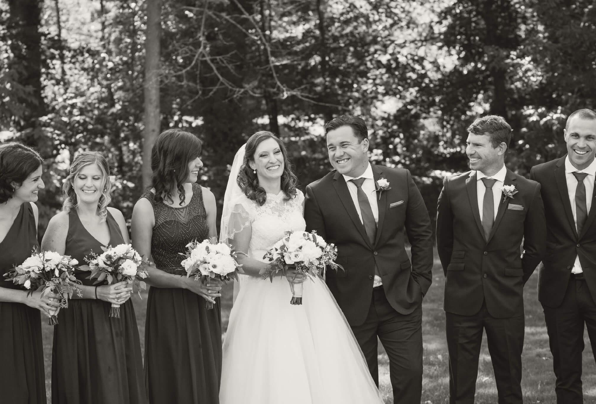candid bridal party oakville