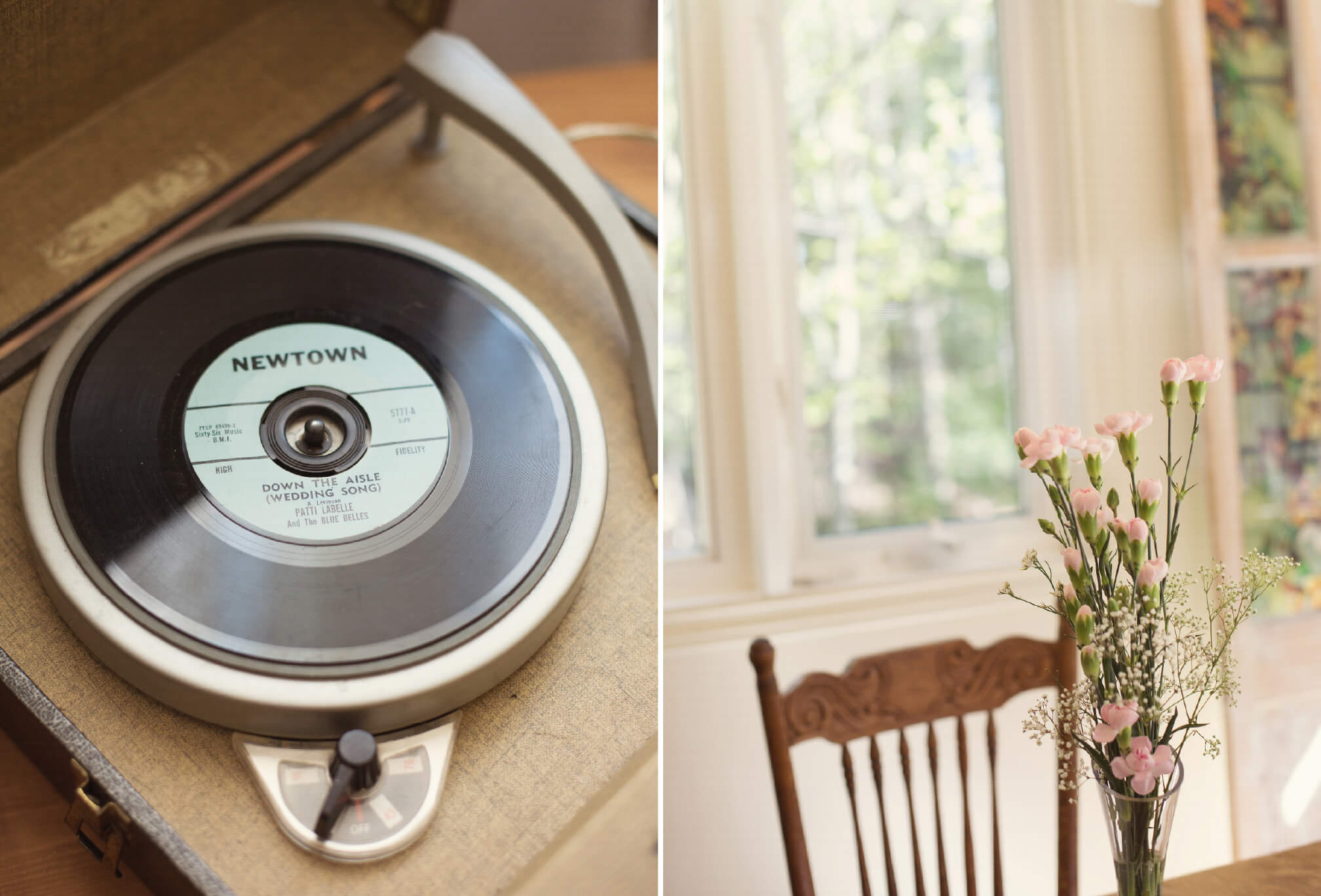 record player wedding details