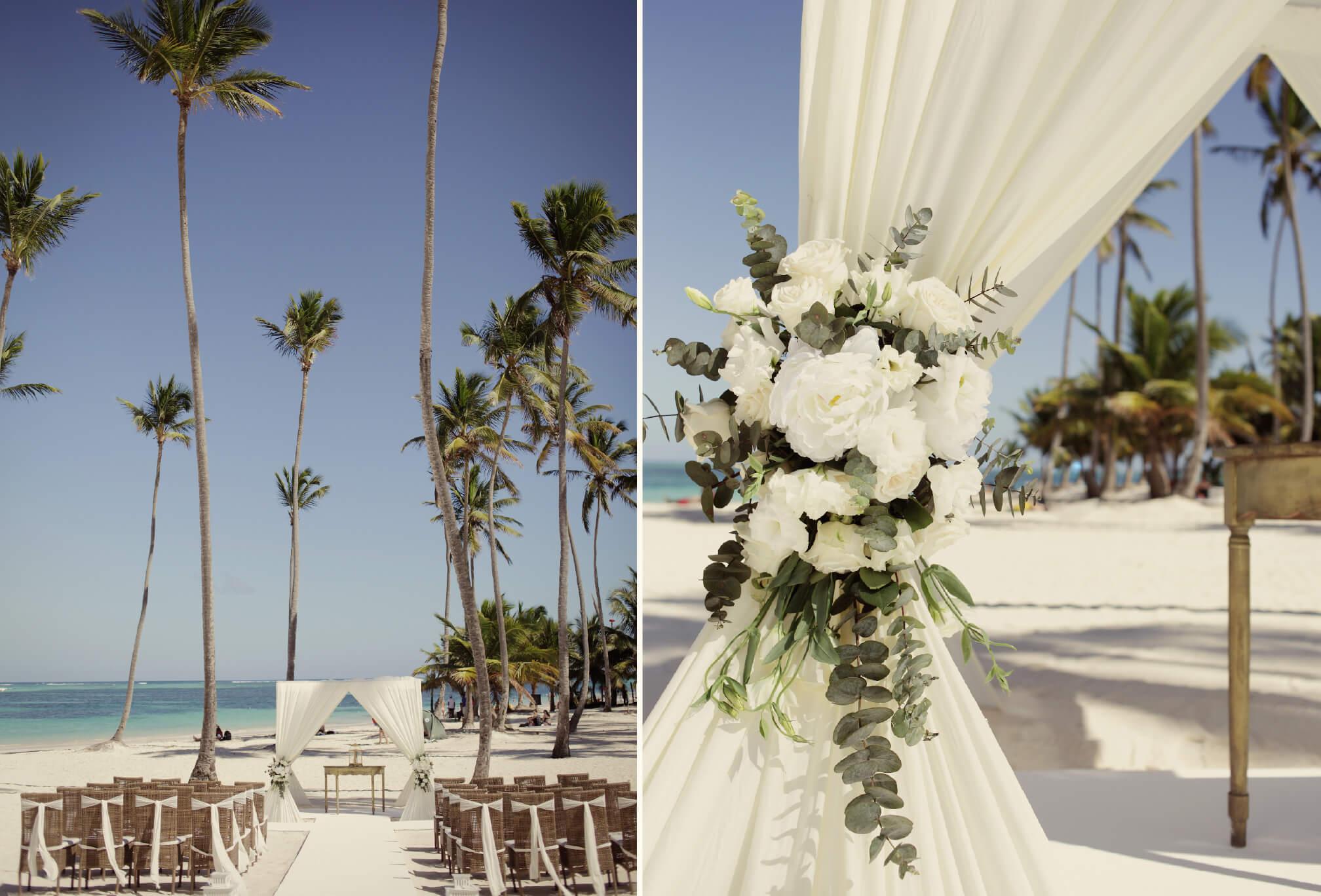 wedding ceremony details jellyfish resort