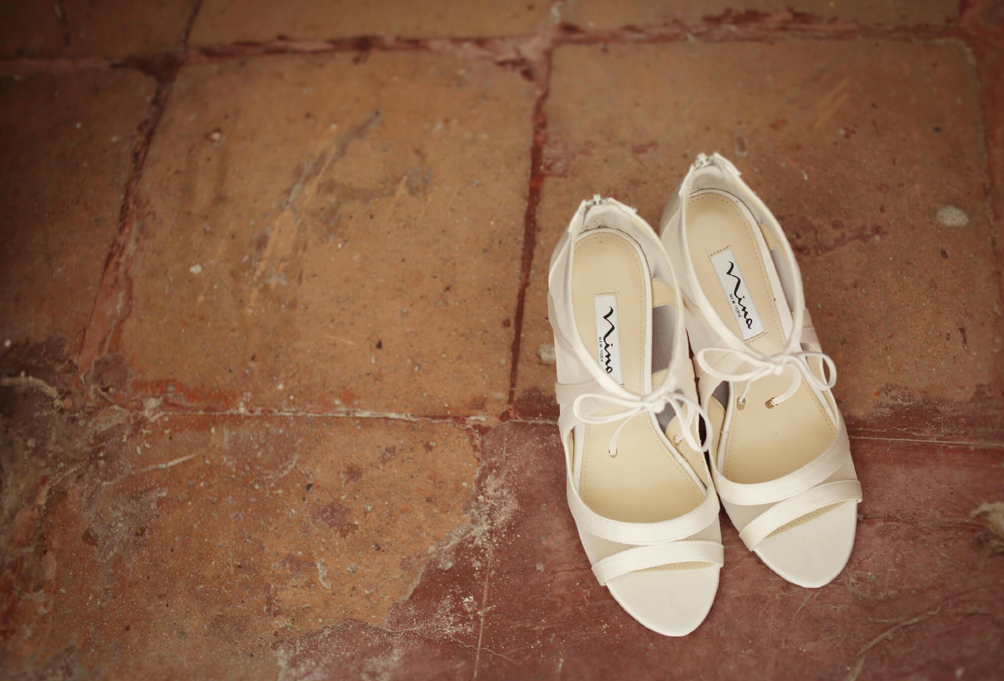 destination wedding dress and shoes