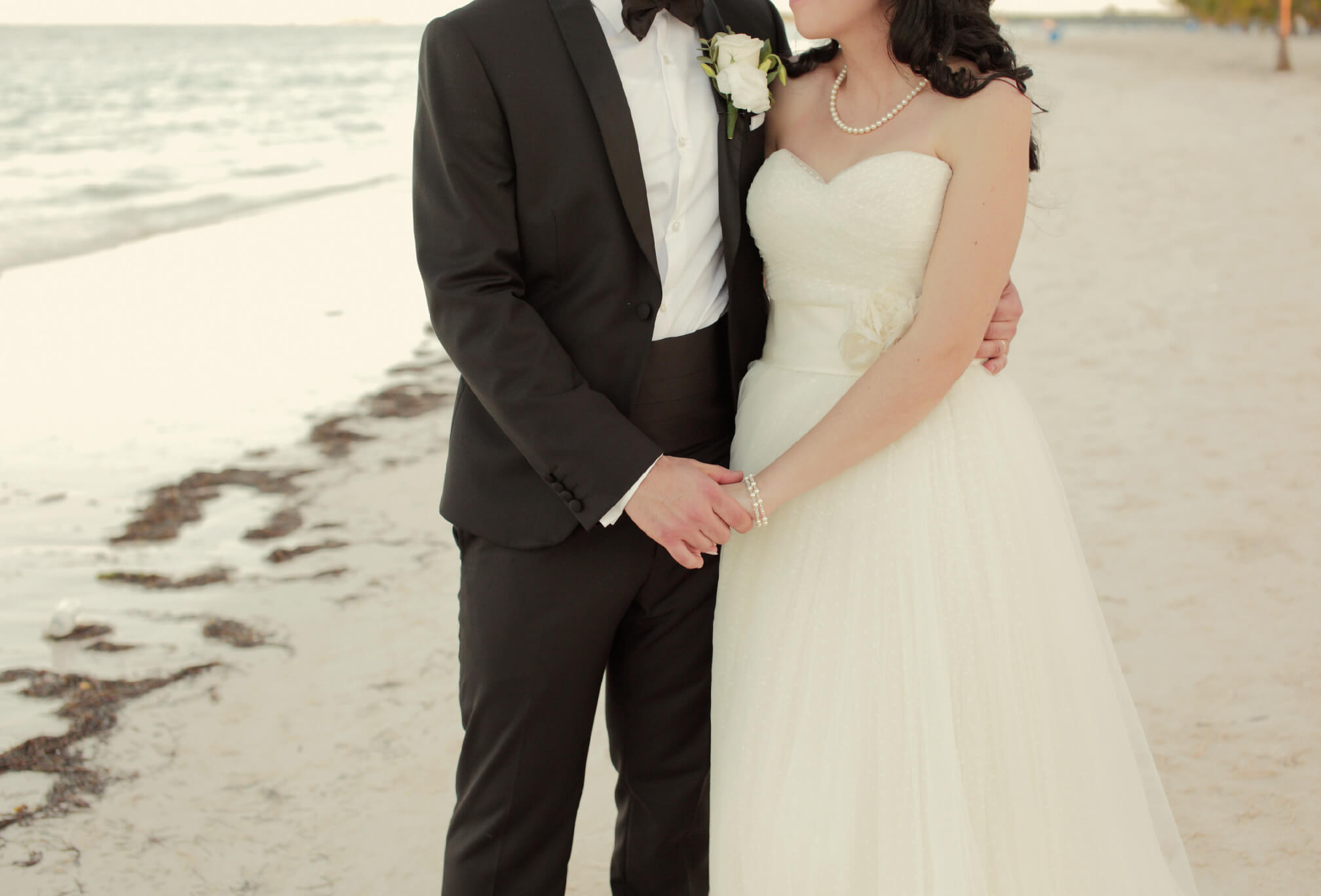 beach wedding candid photography