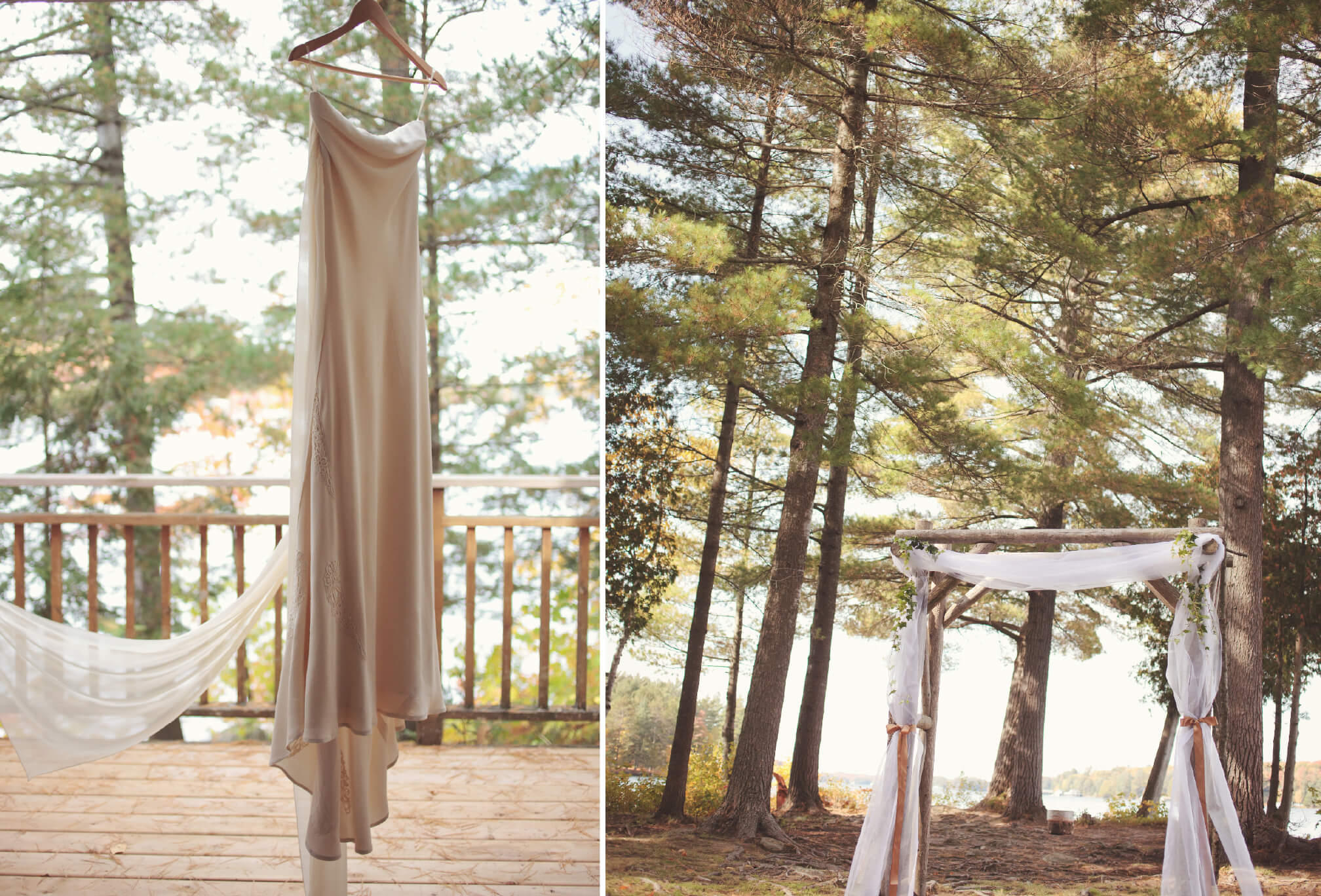 lakeside wedding details dress