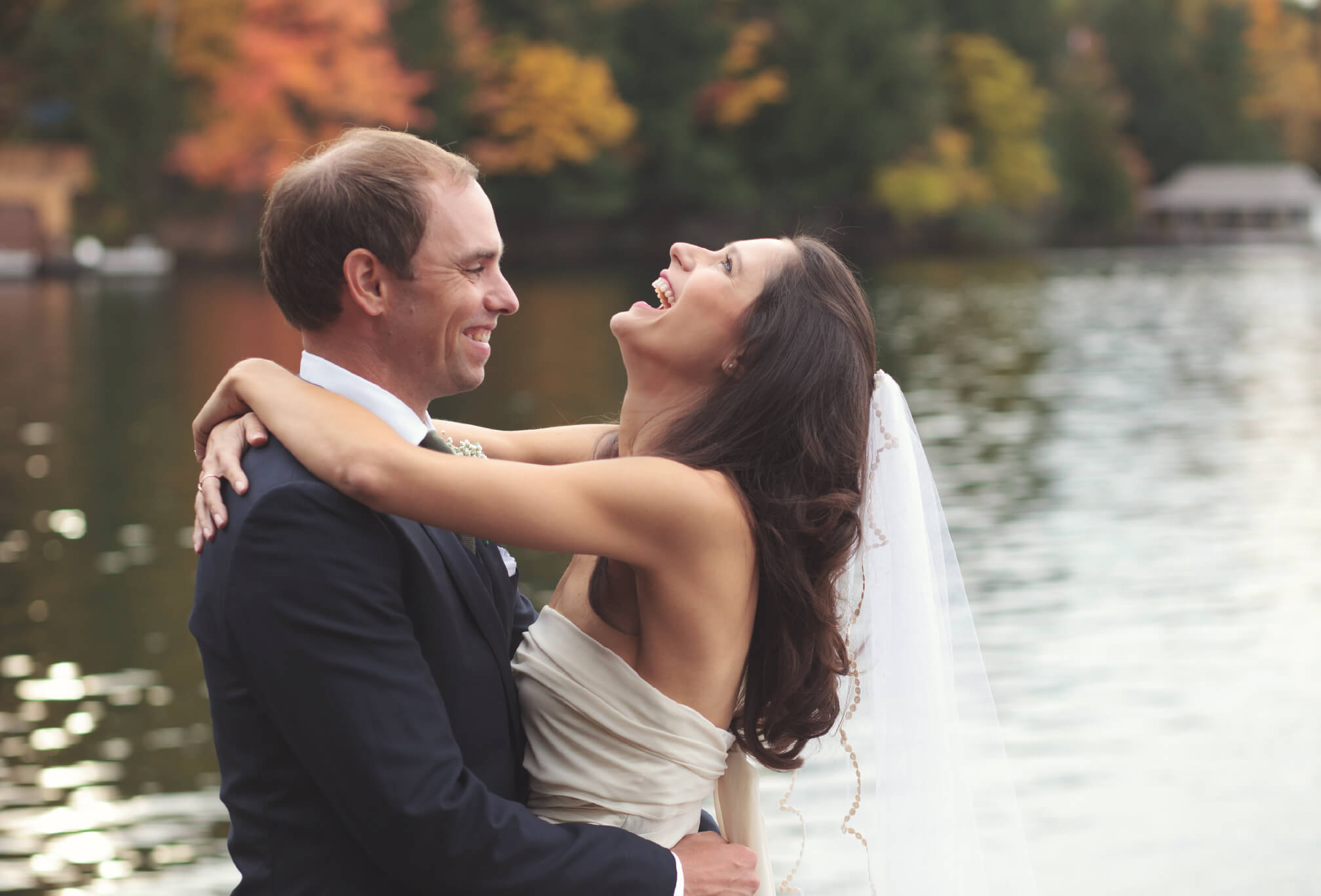 lakeside wedding photos muskoka
