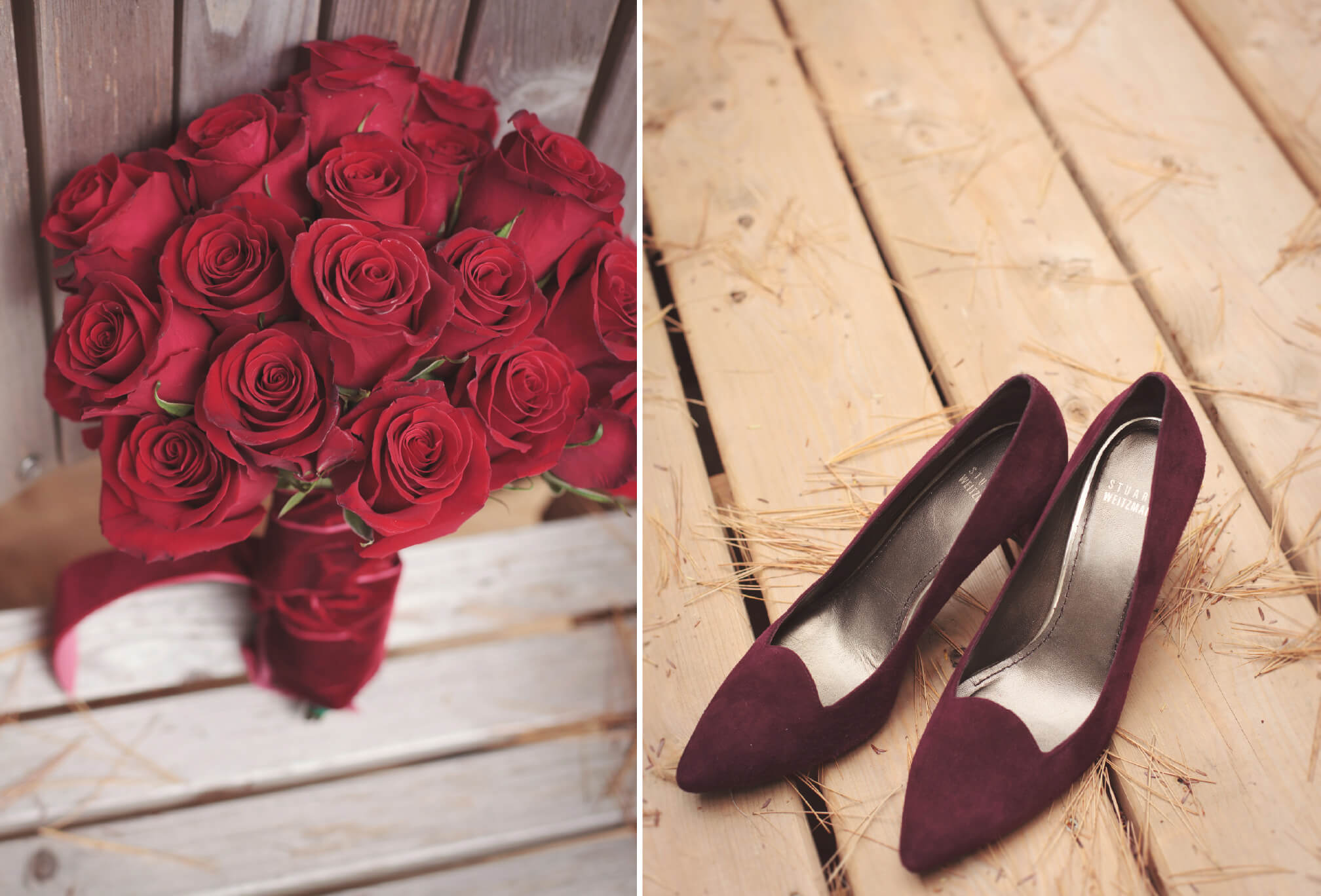 autumn wedding shoes flowers