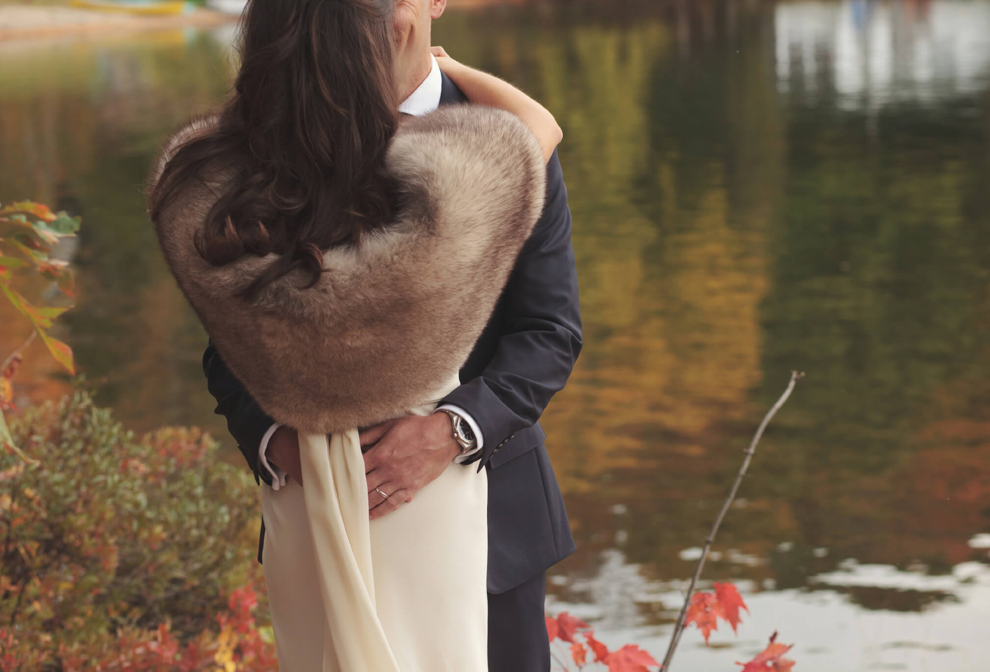 fall in muskoka wedding photos