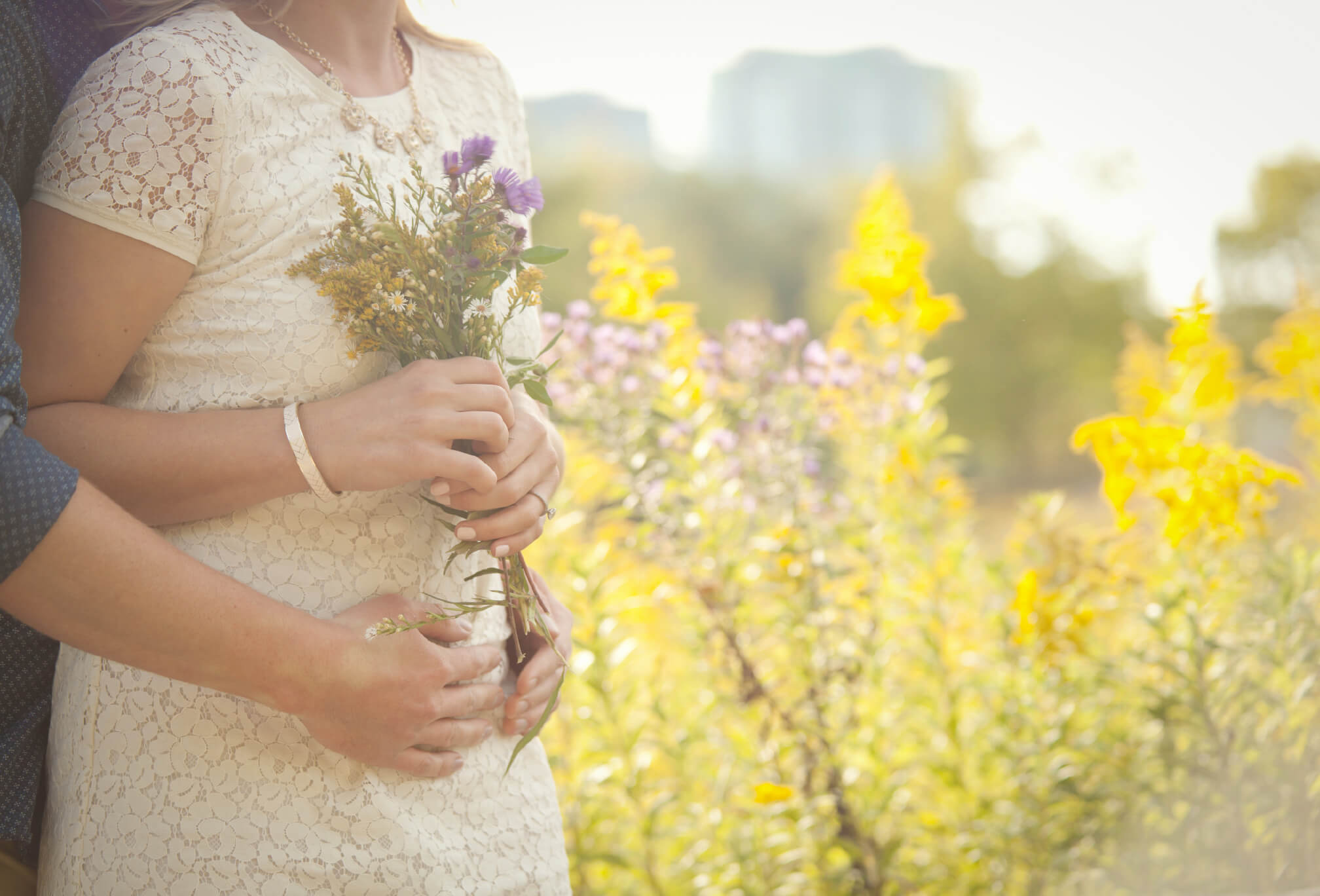 wildflower engagement session