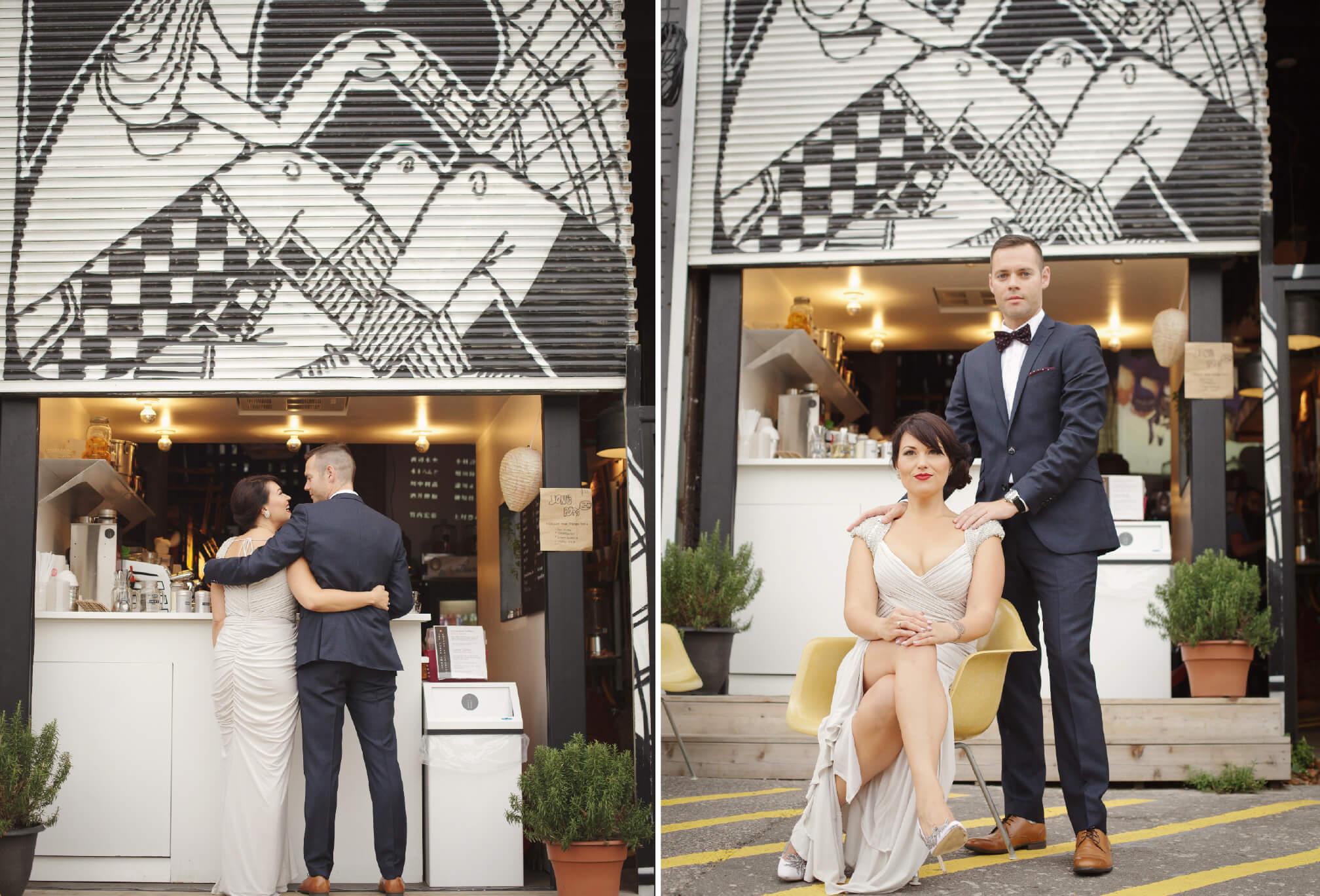 coffee shop wedding photos toronto
