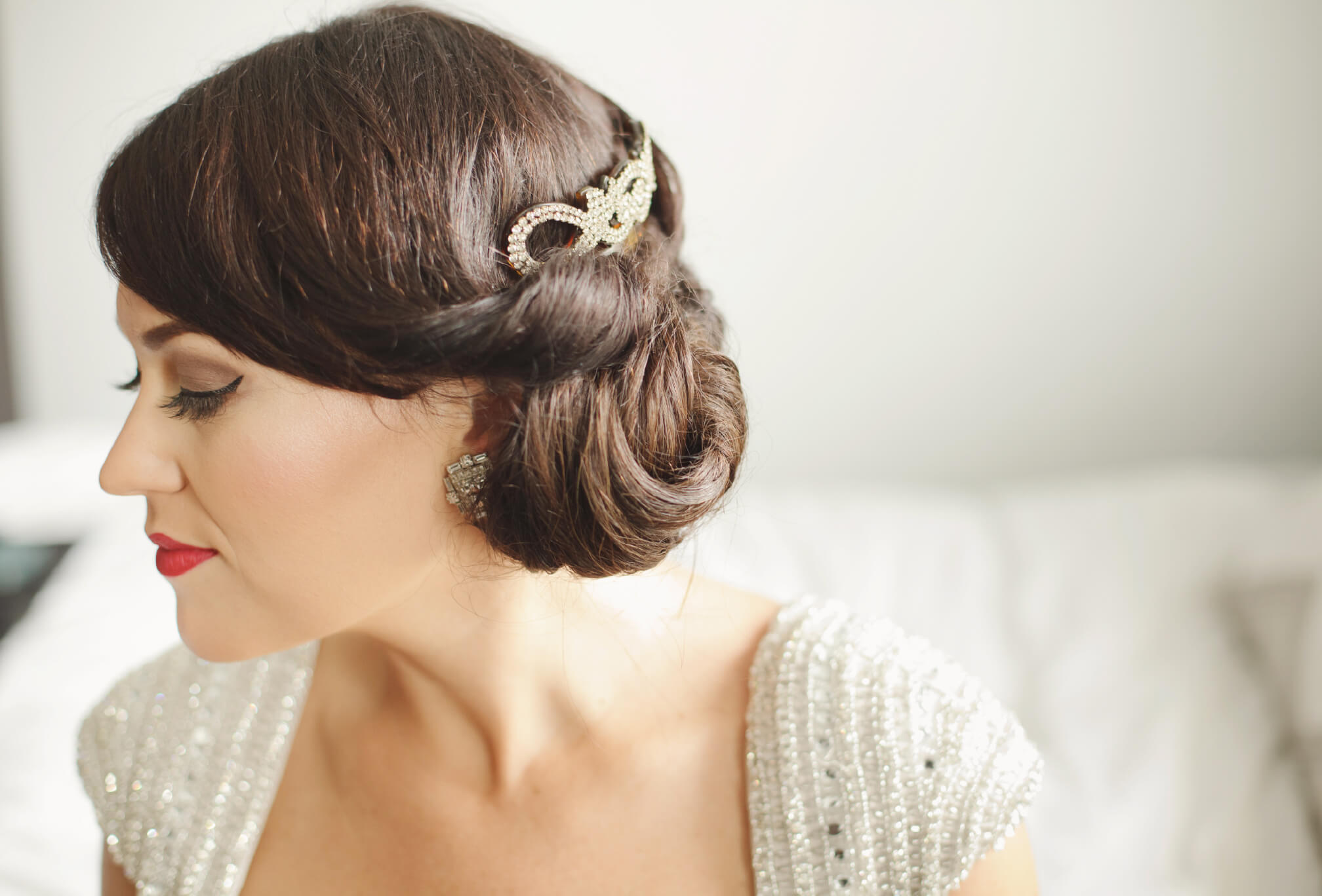 bride vintage dress details