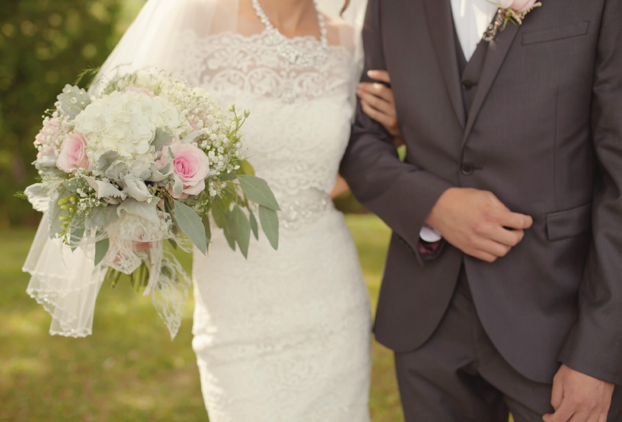 bride and groom style details