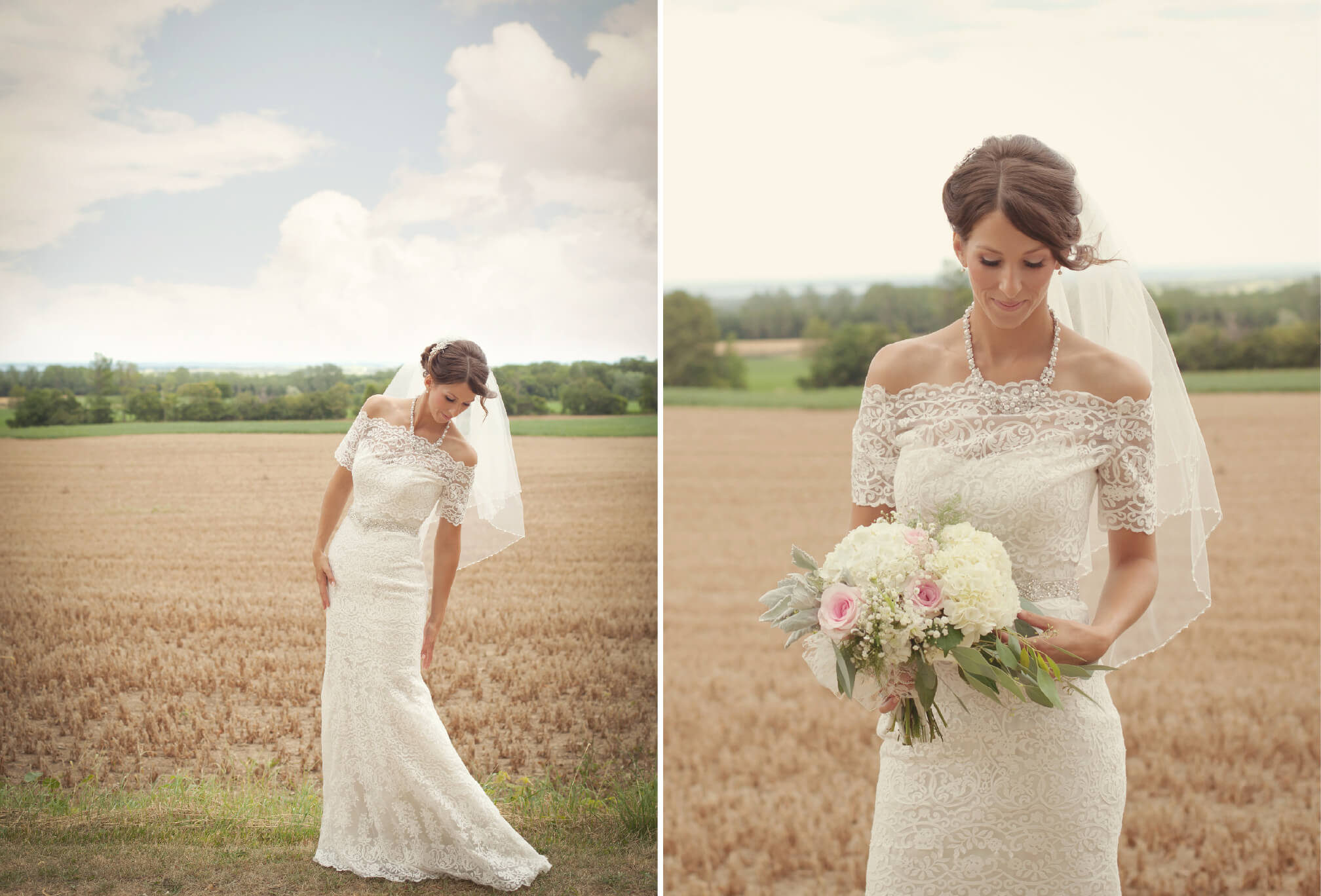 bride style farm wedding