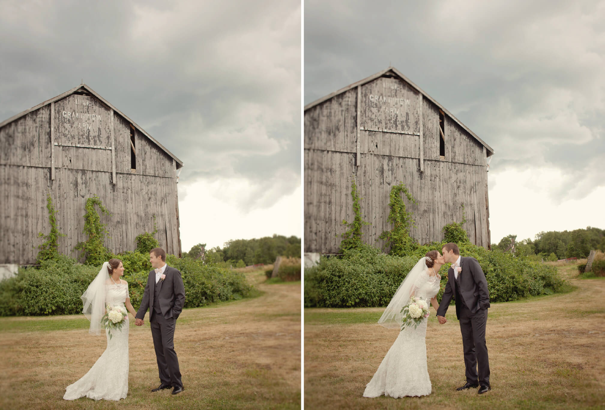 bride and groom rustic barn wedding blue mountains