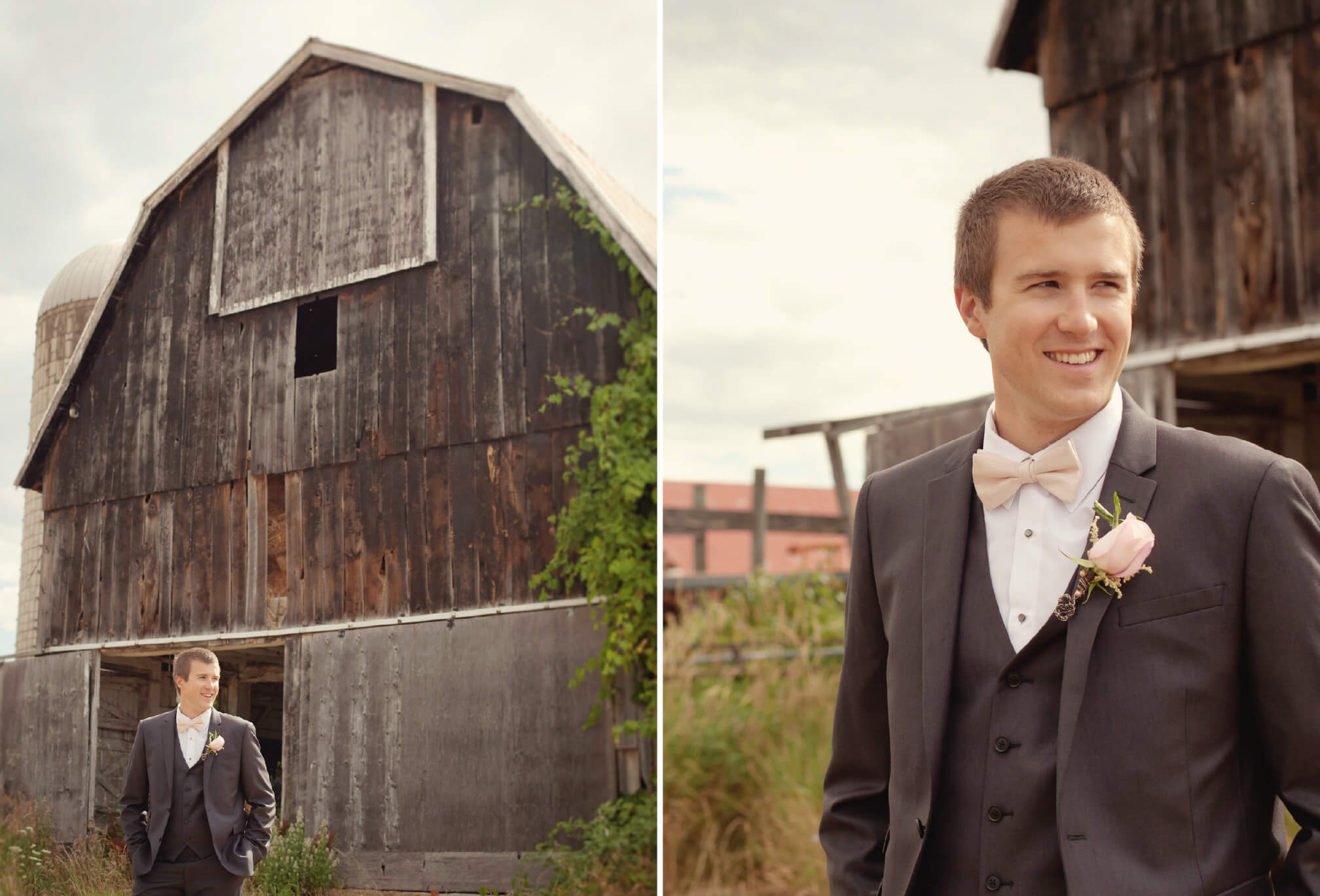 groom style barn wedding blue mountains