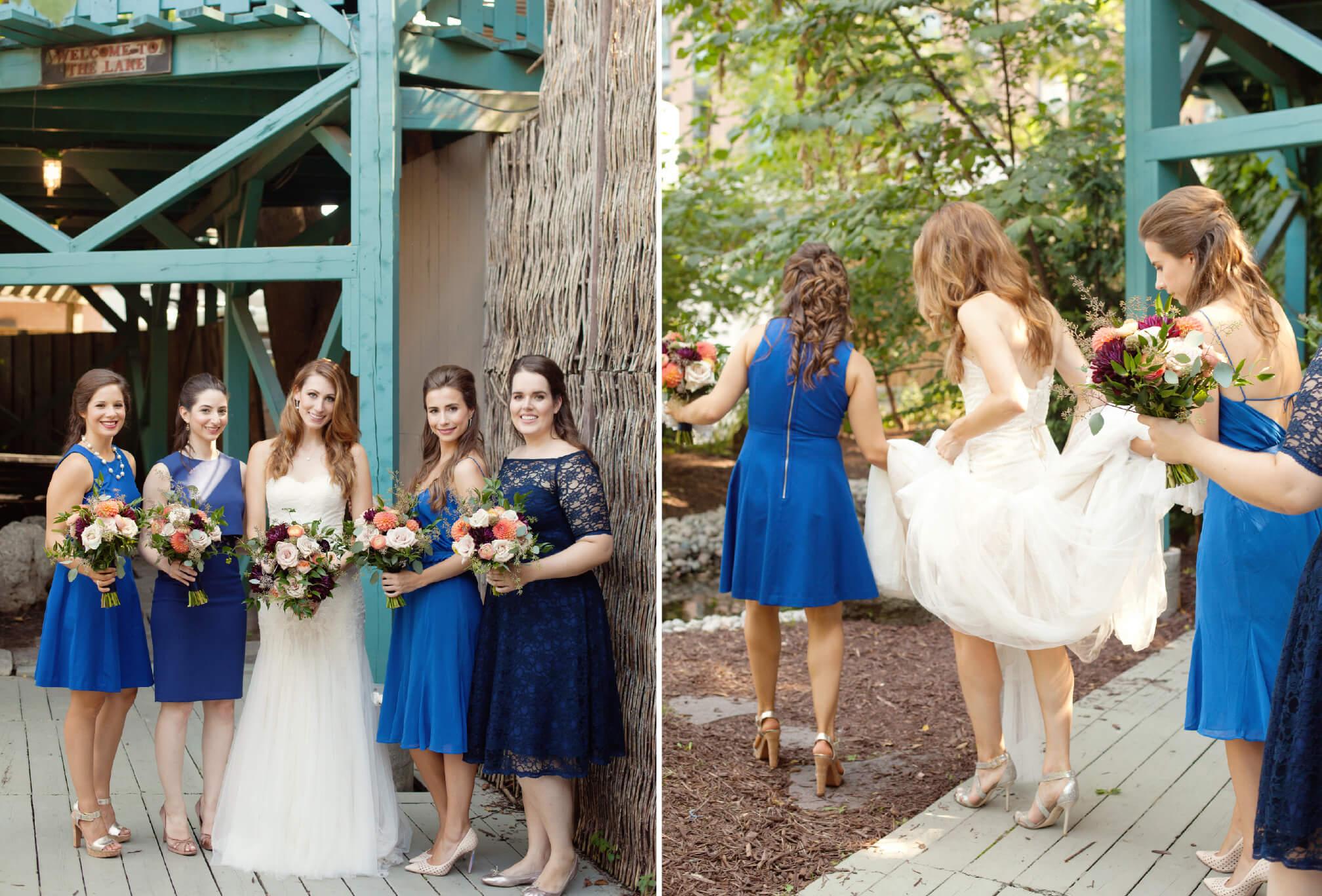 blue bridesmaids dresses toronto