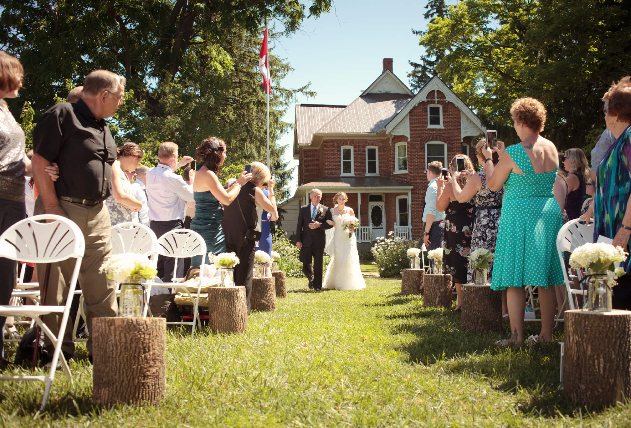 country farm wedding ceremony