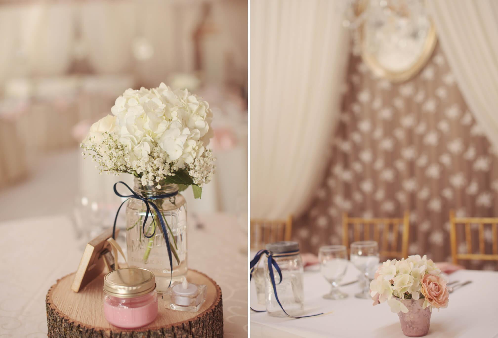 barn wedding details decor