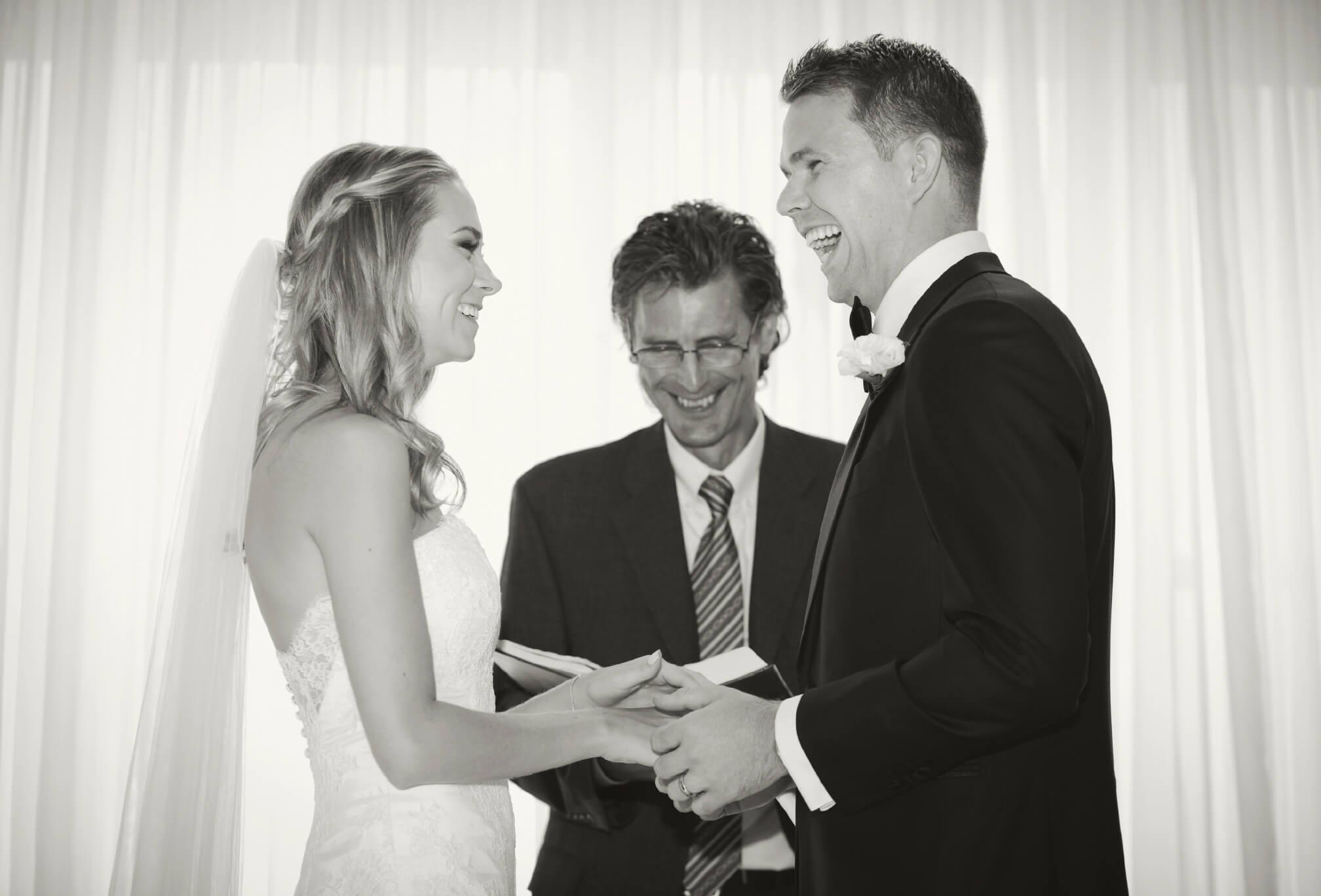 craigleith ski club ceremony bride and groom