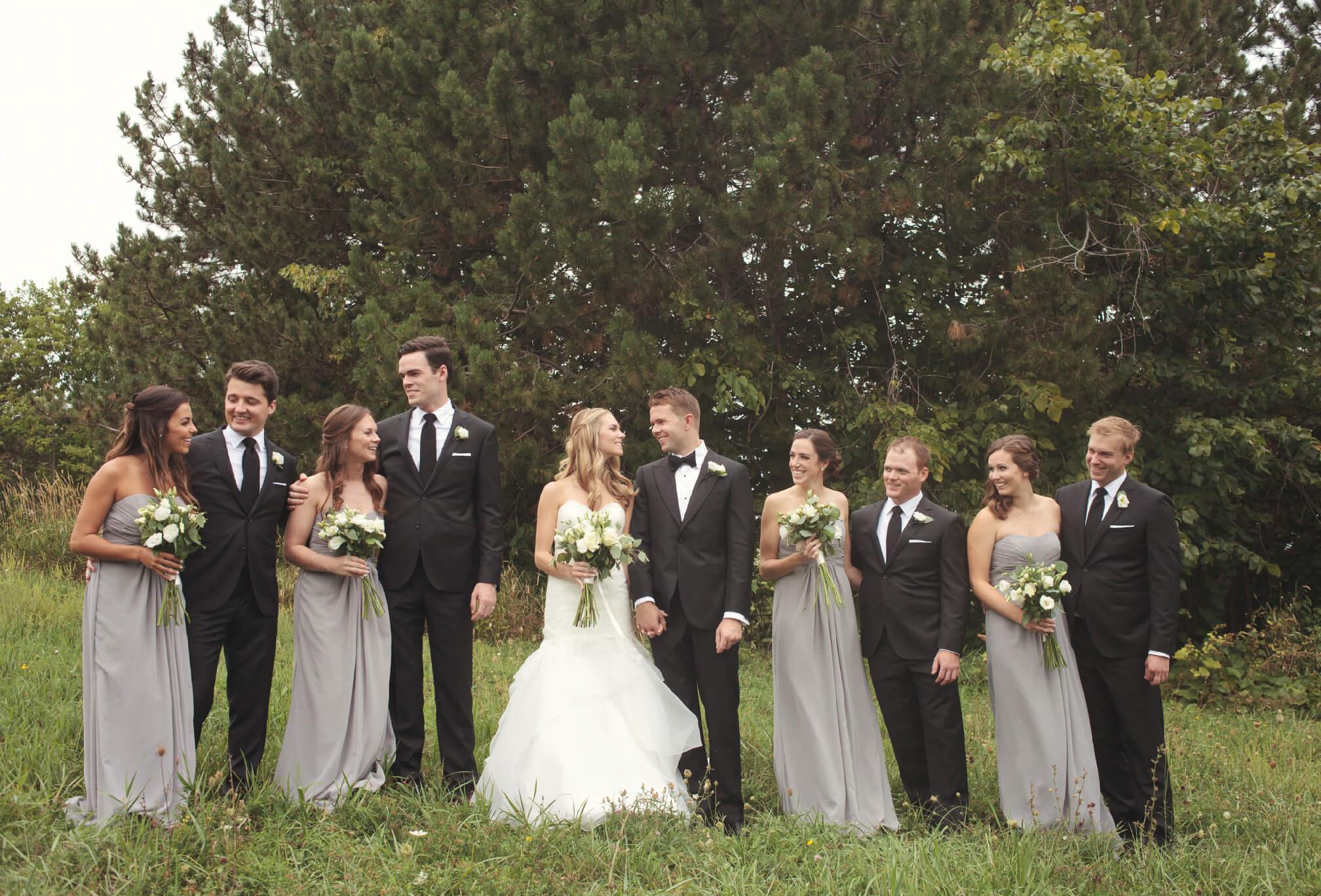 bridal party on blue mountain ontario