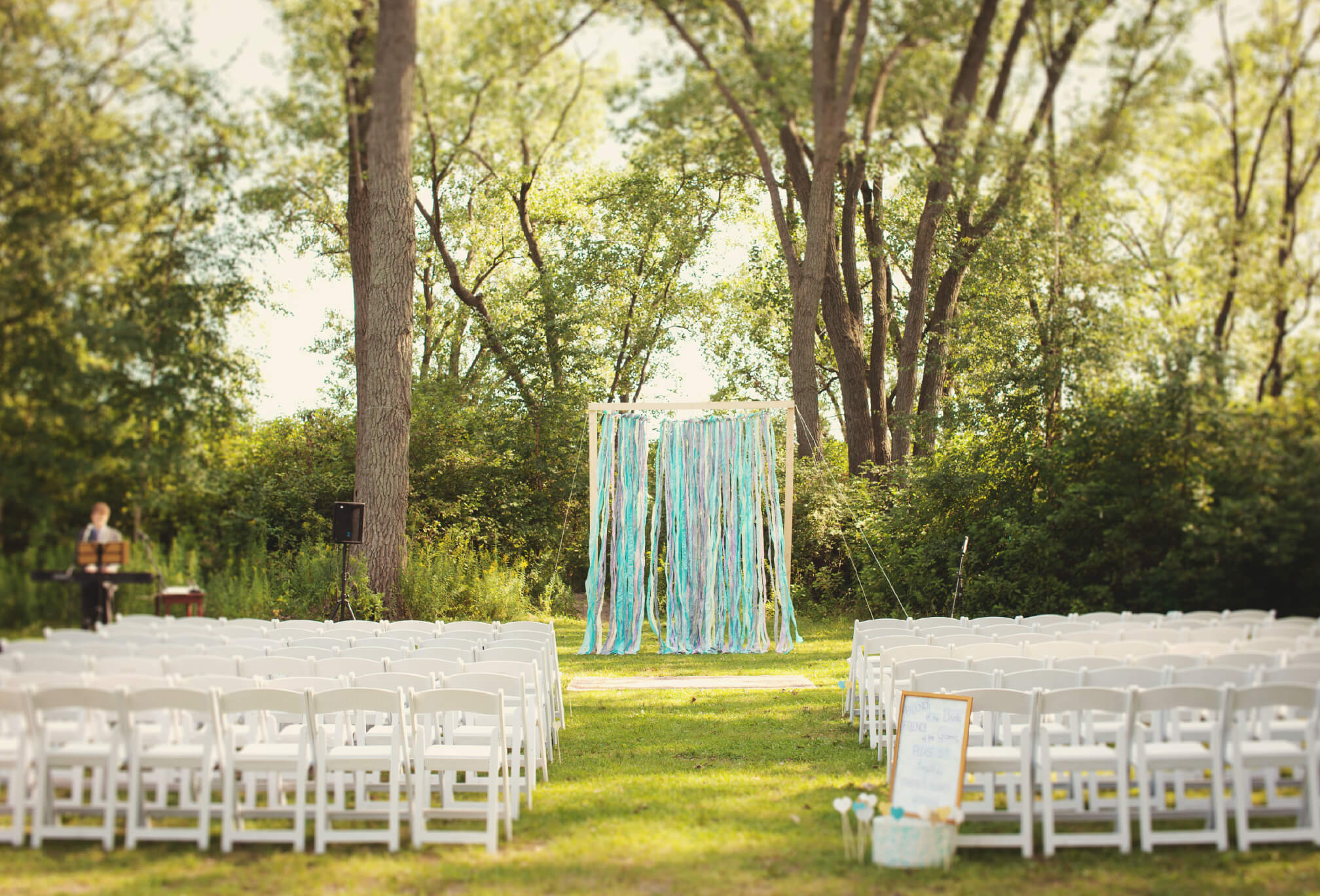 outdoor ceremony set up gibraltar point