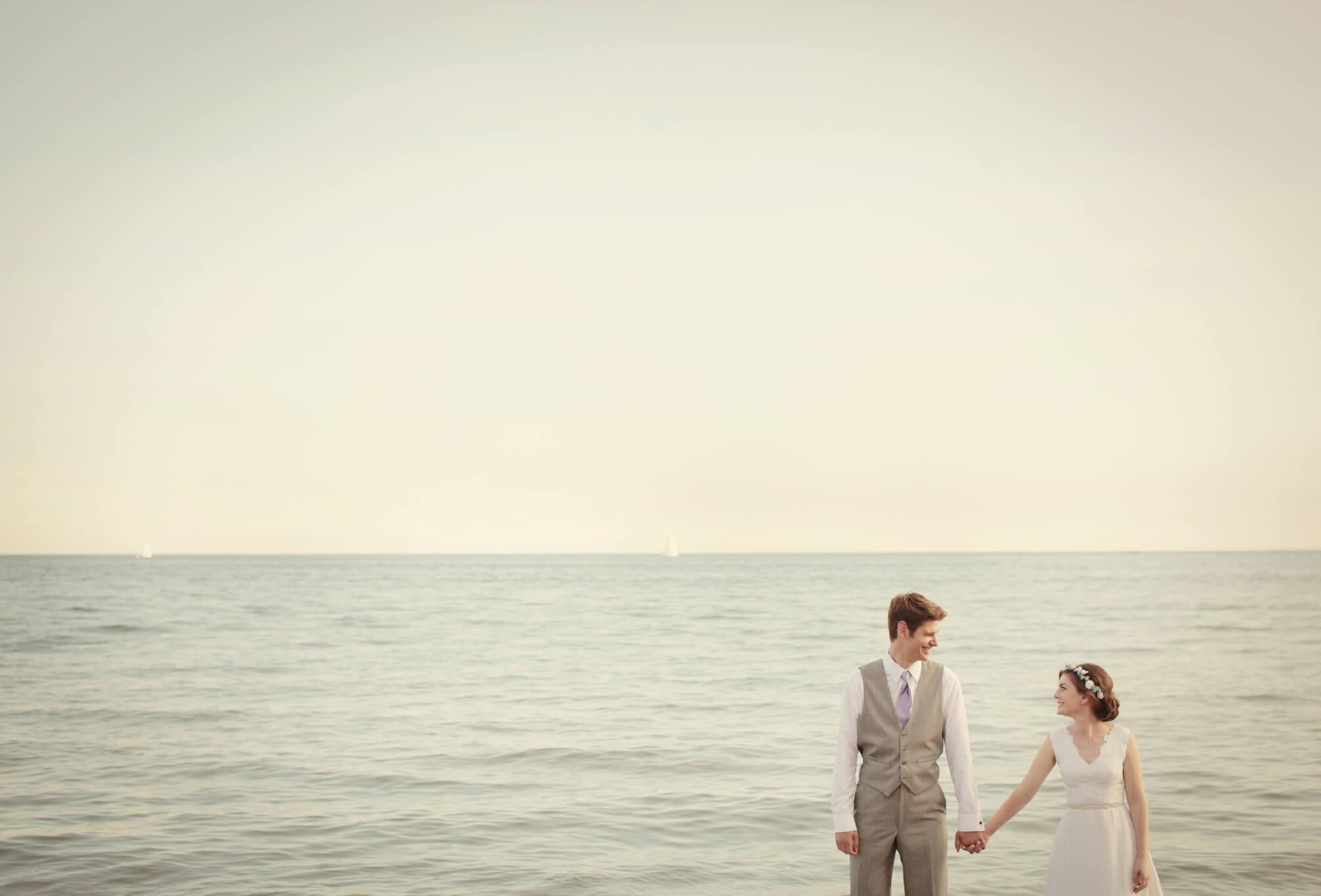 toronto gibraltar point wedding on beach