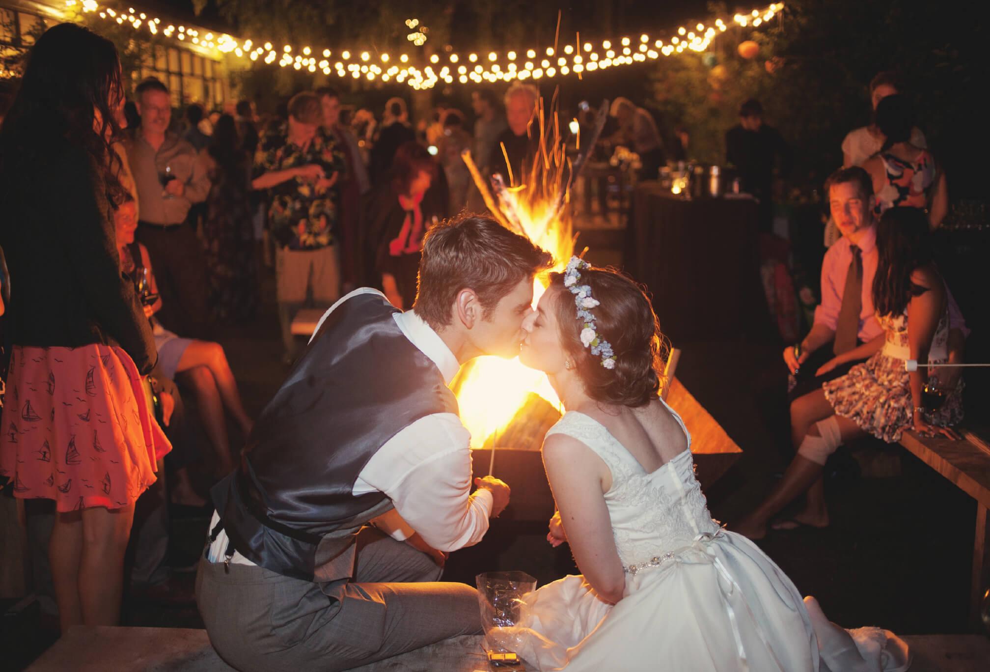 fire pit gibraltar point wedding