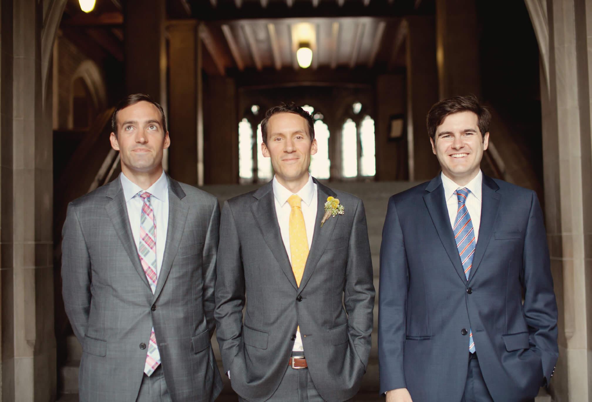 groom and groomsmen at u of t