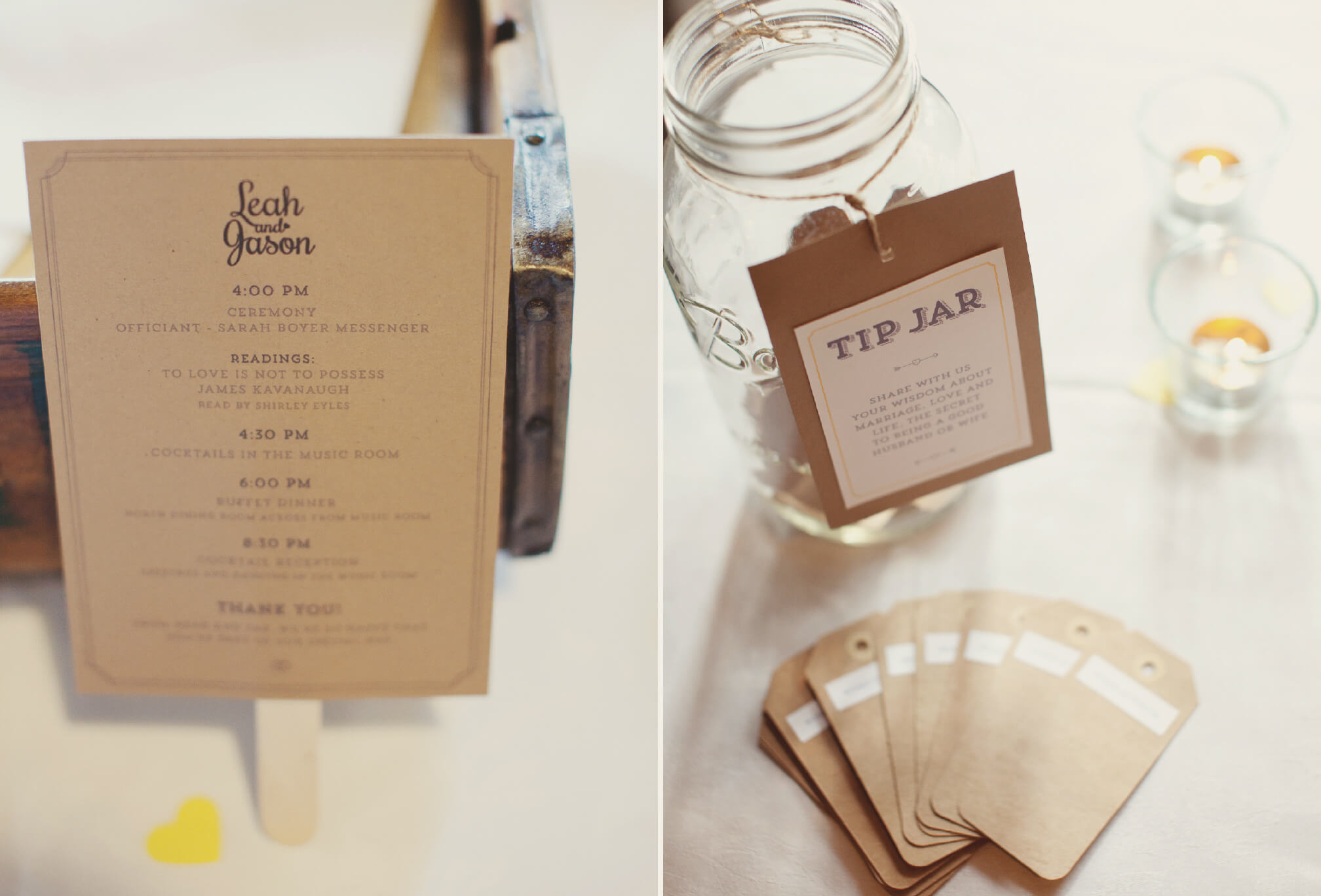 simple sweet wedding decor hart house