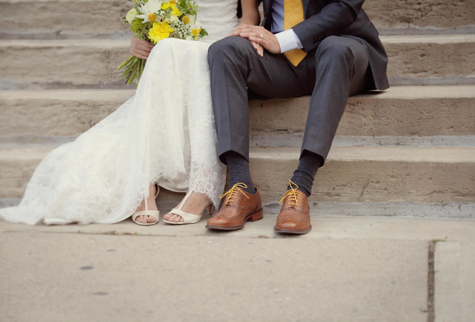 cute candid leg shot wedding