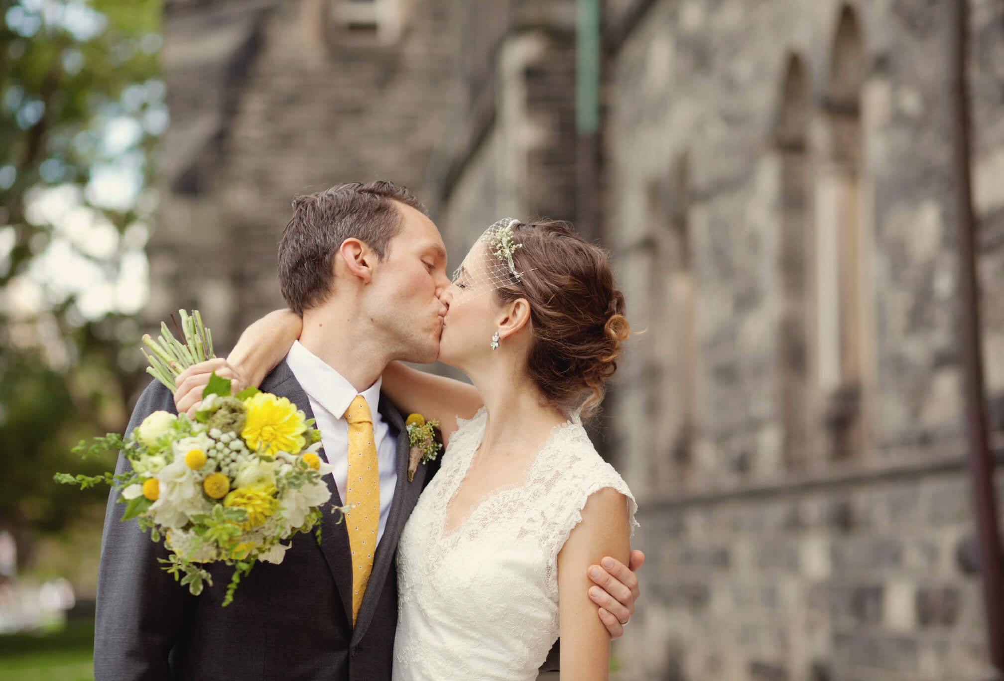 yellow and green wedding at u of t