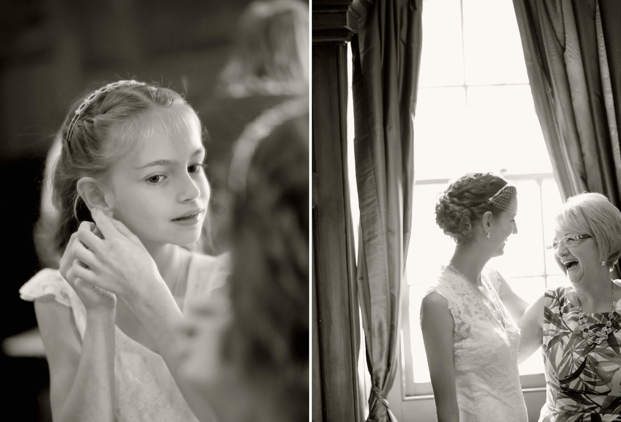 bride getting ready hart house