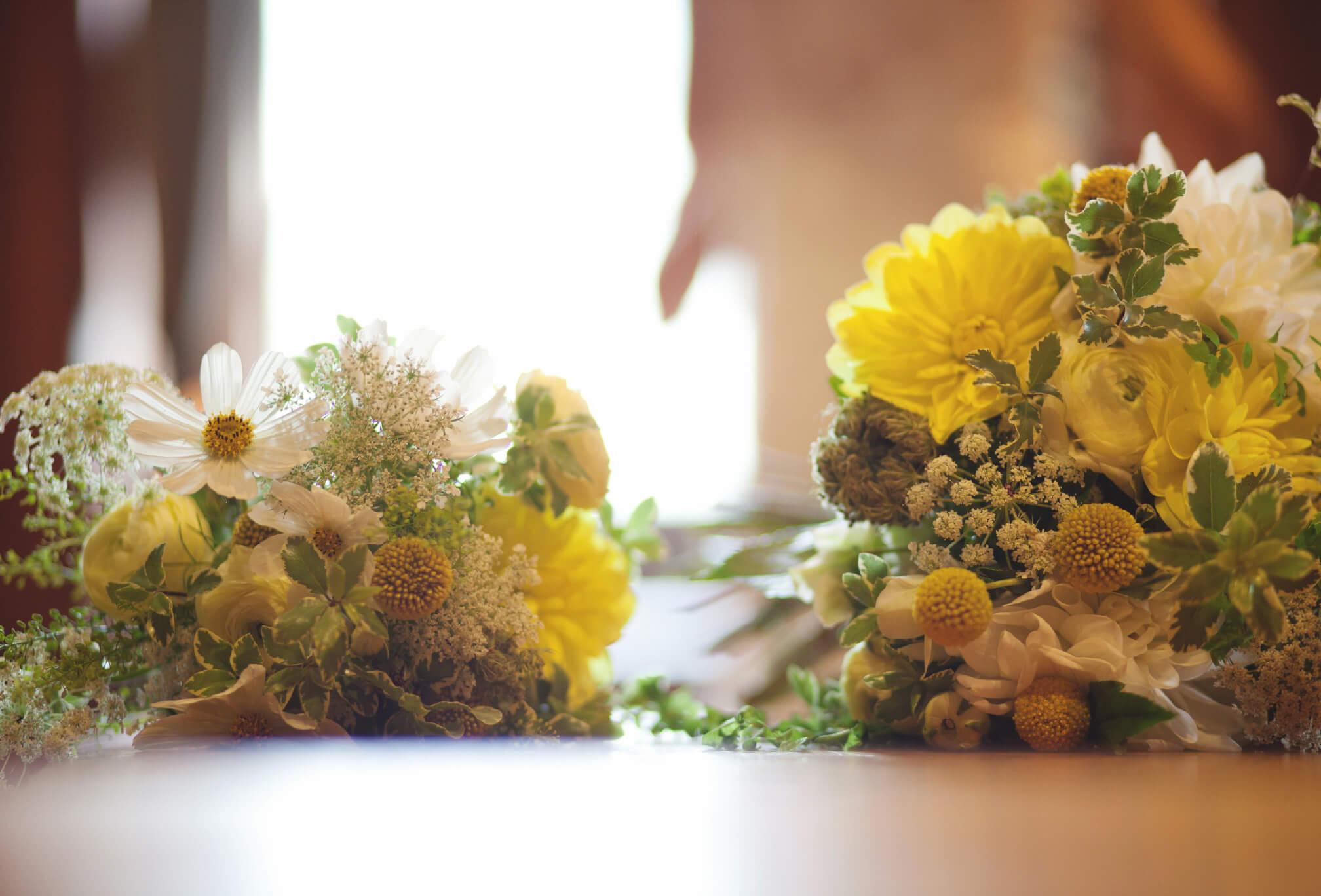 yellow wildflower bouquet