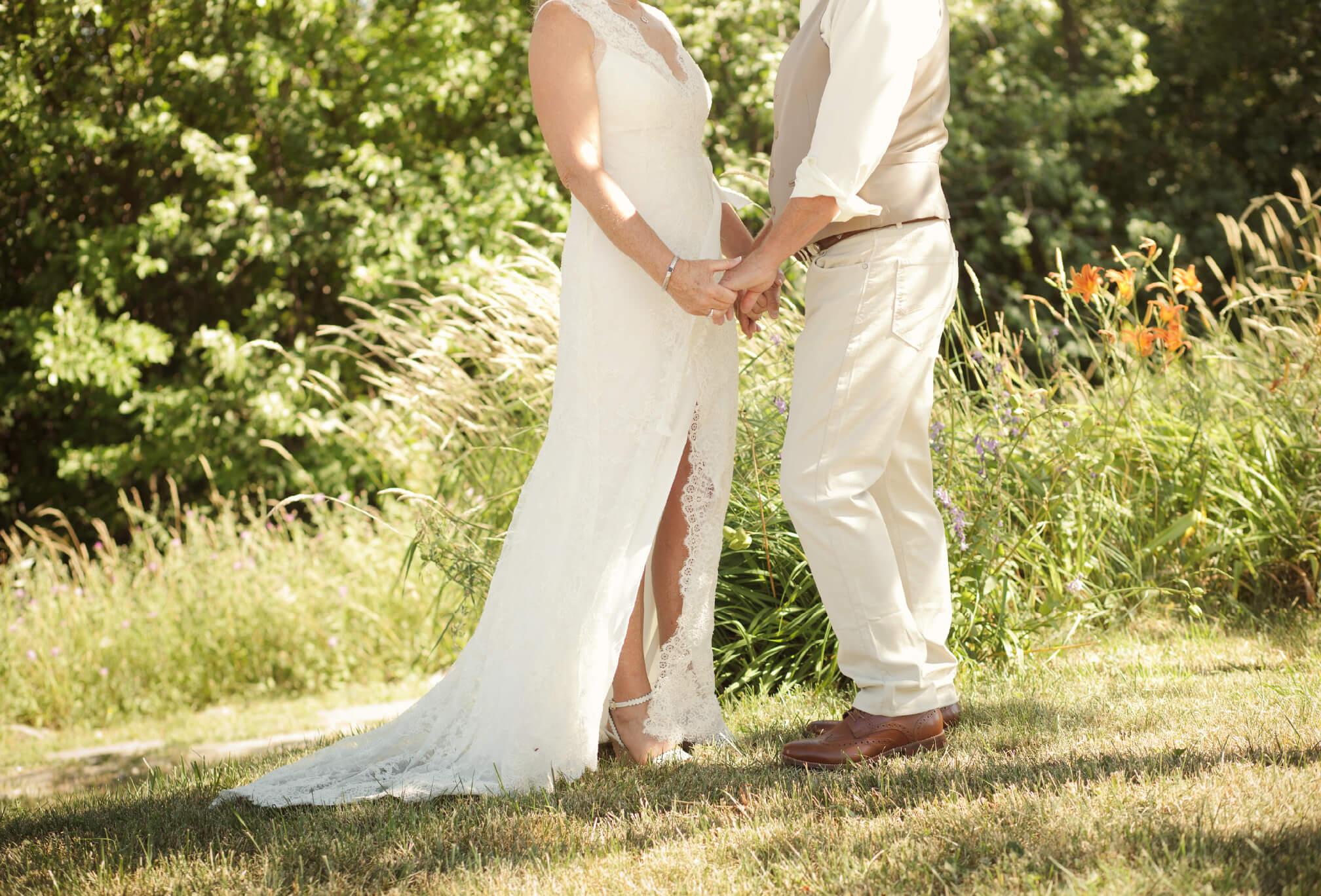 first look outdoor wedding ontario