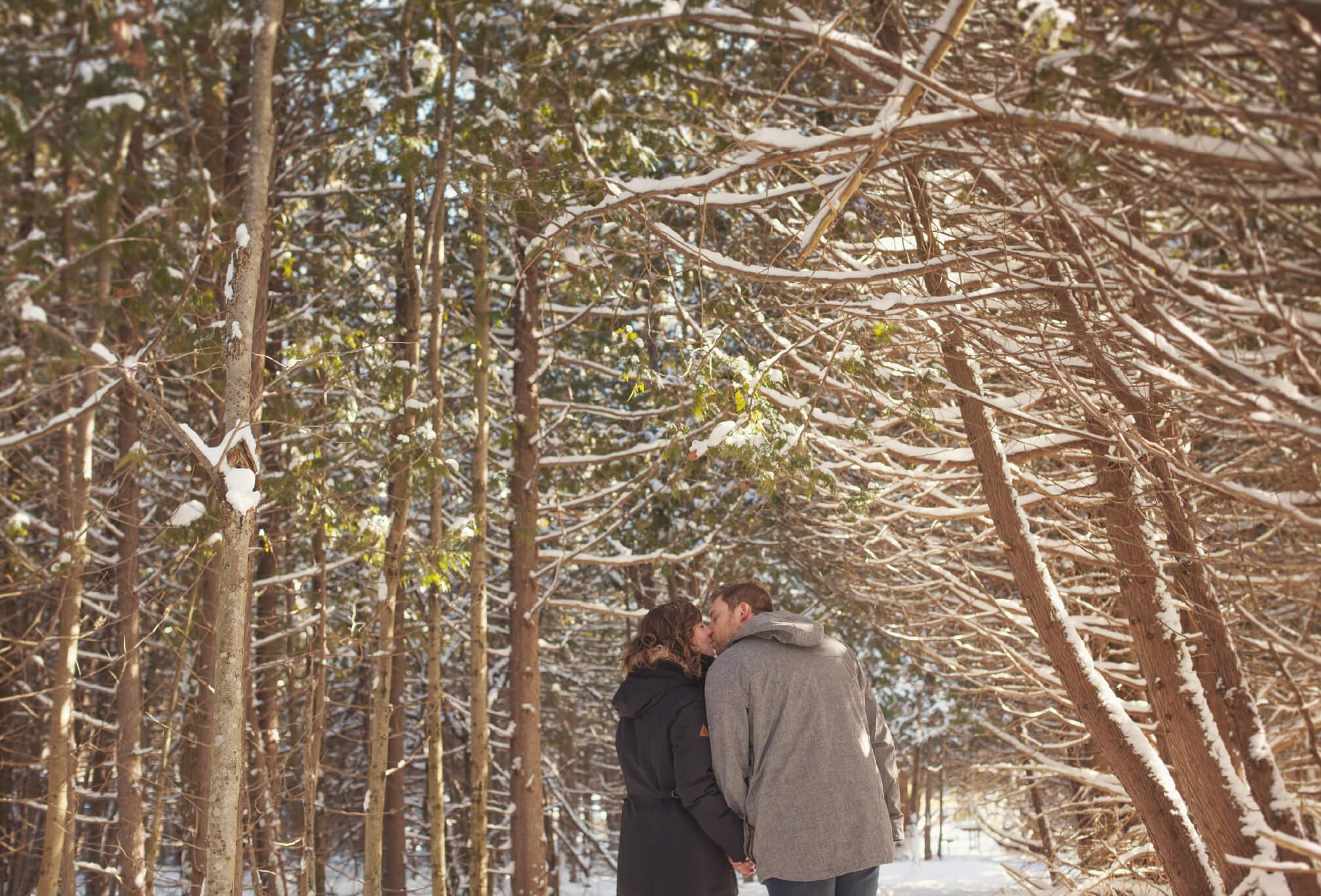 beaver valley ski club winter engagement session