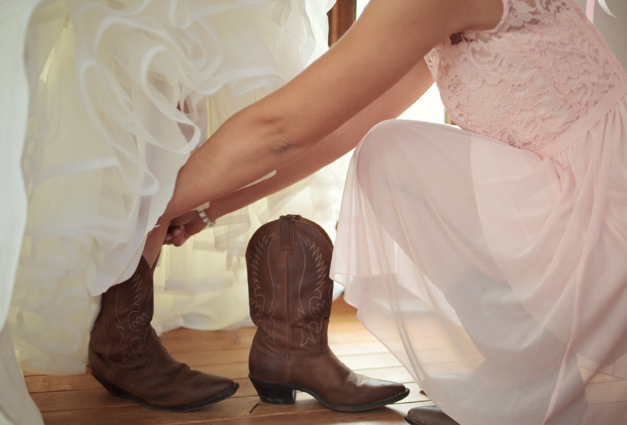 country western wedding details