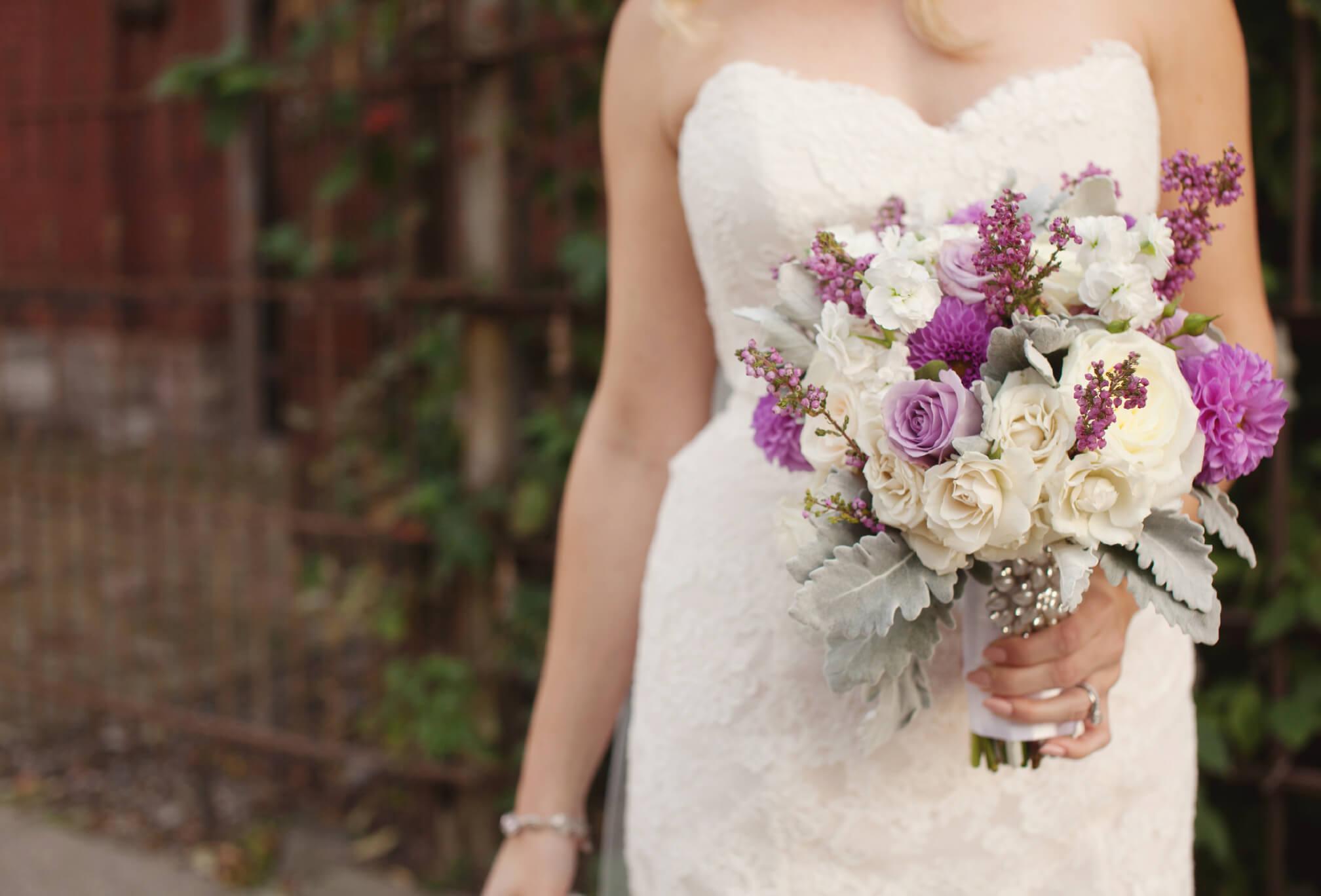 bride and bouquet berkeley church
