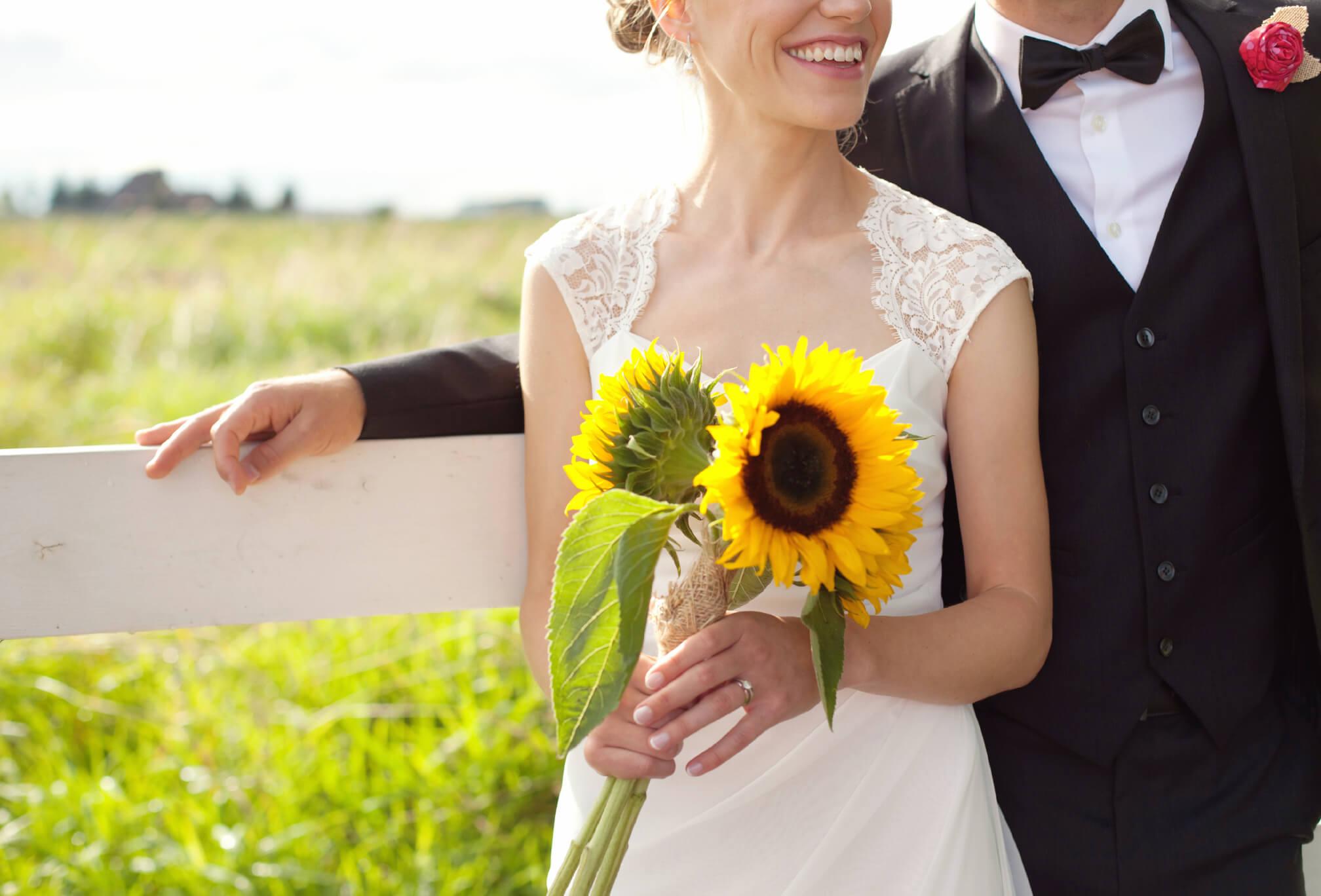 sunflower bouquet bc wedding
