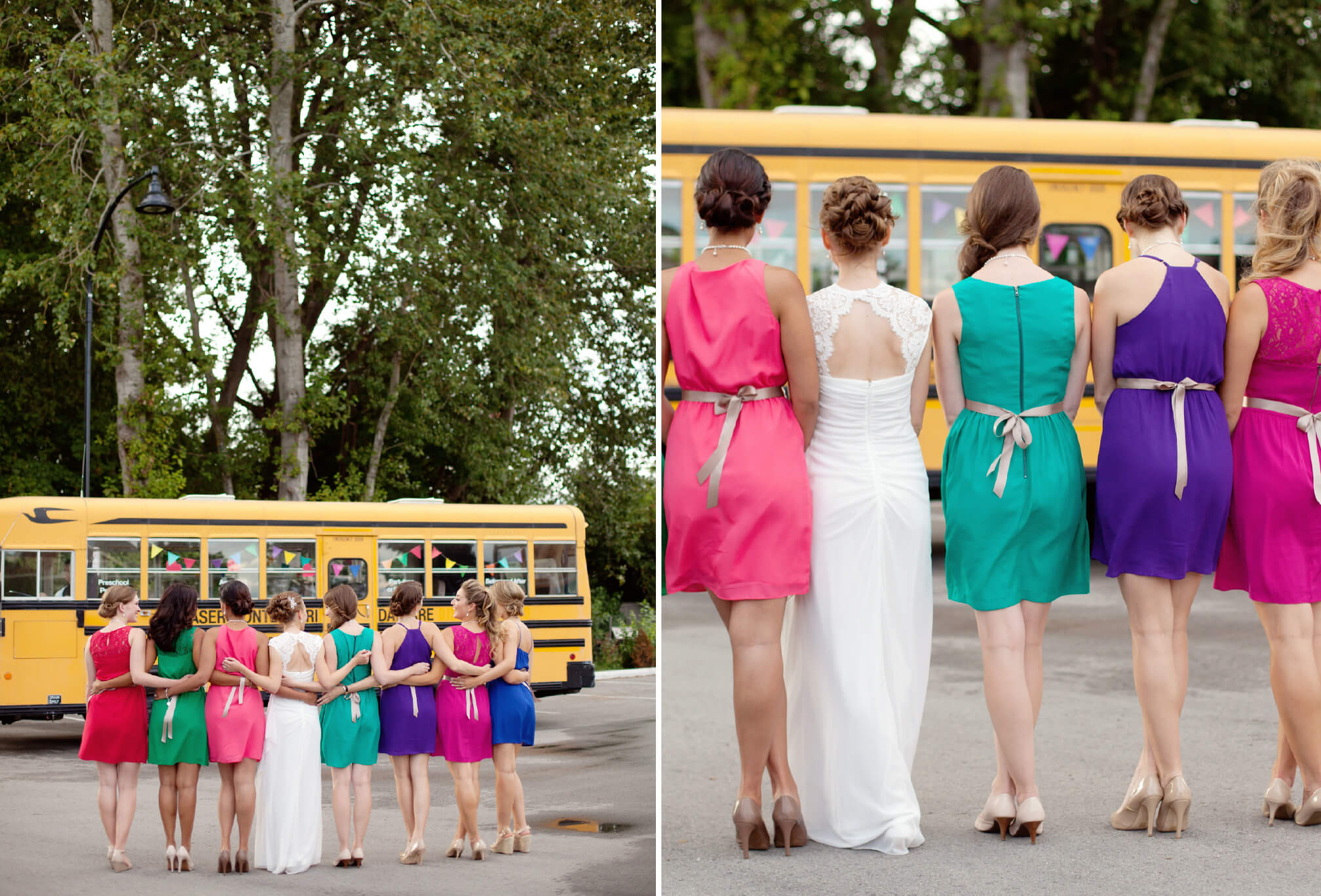colourful bridesmaids dresses bc wedding