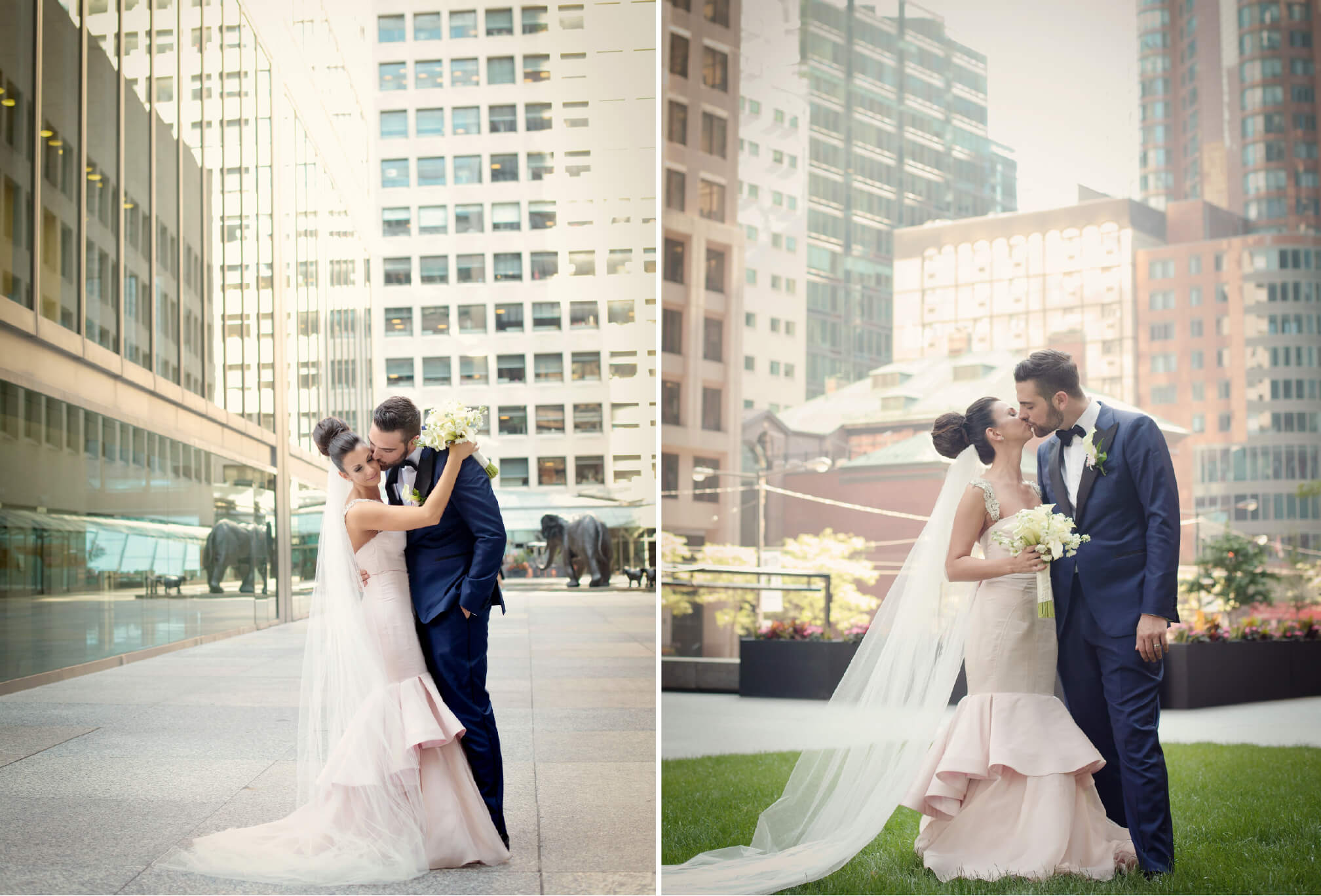 manulife building wedding photography bride and groom