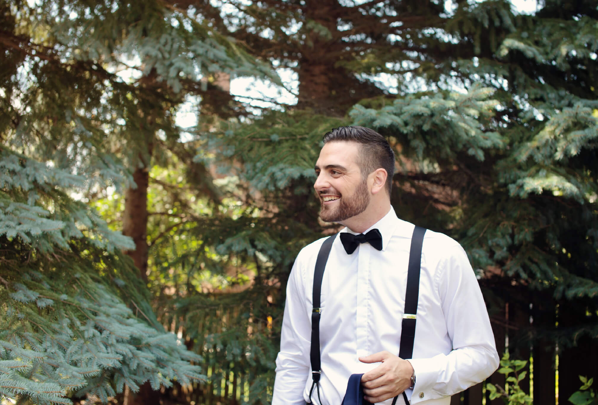 groom suspenders bowtie