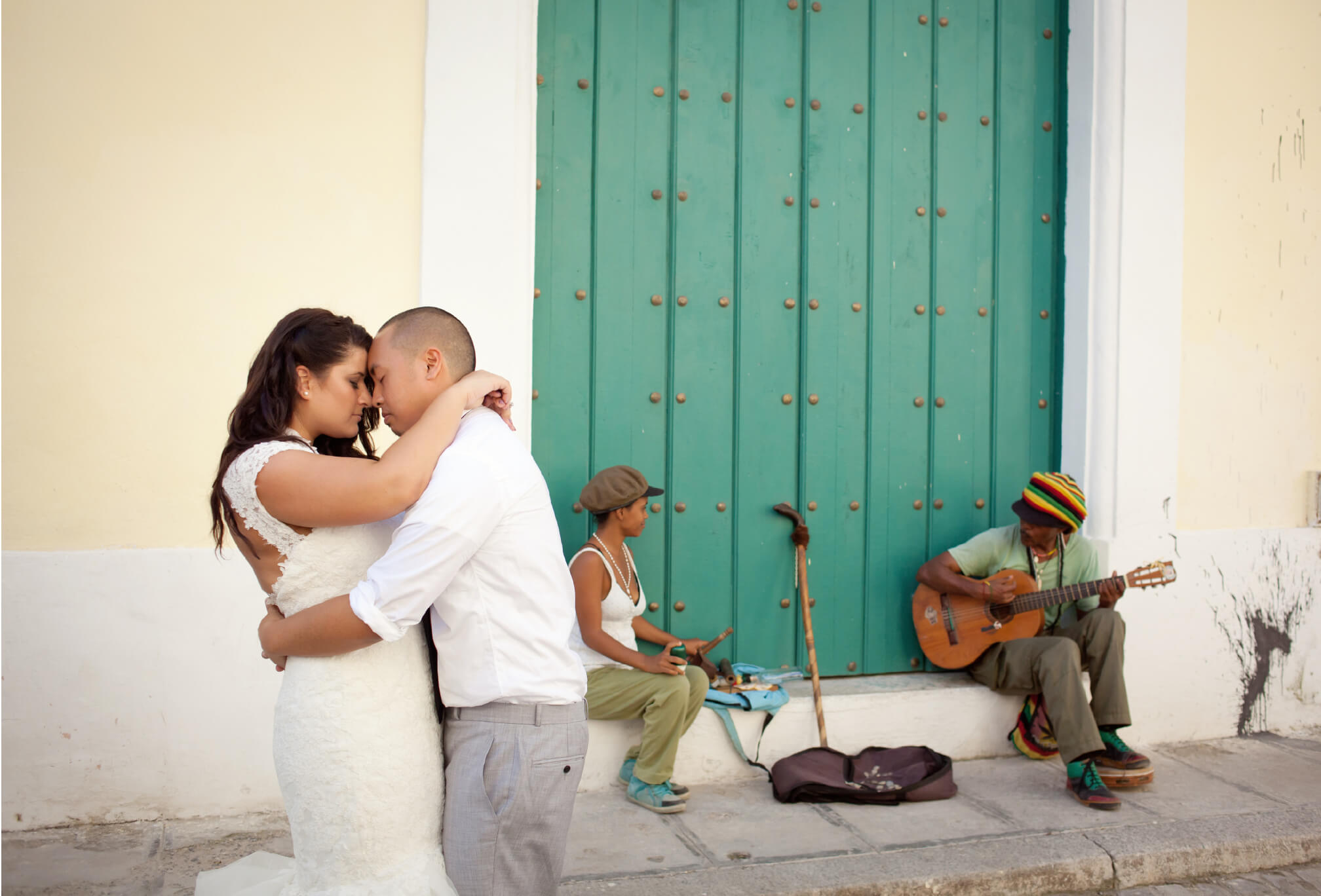 bride and groom havana