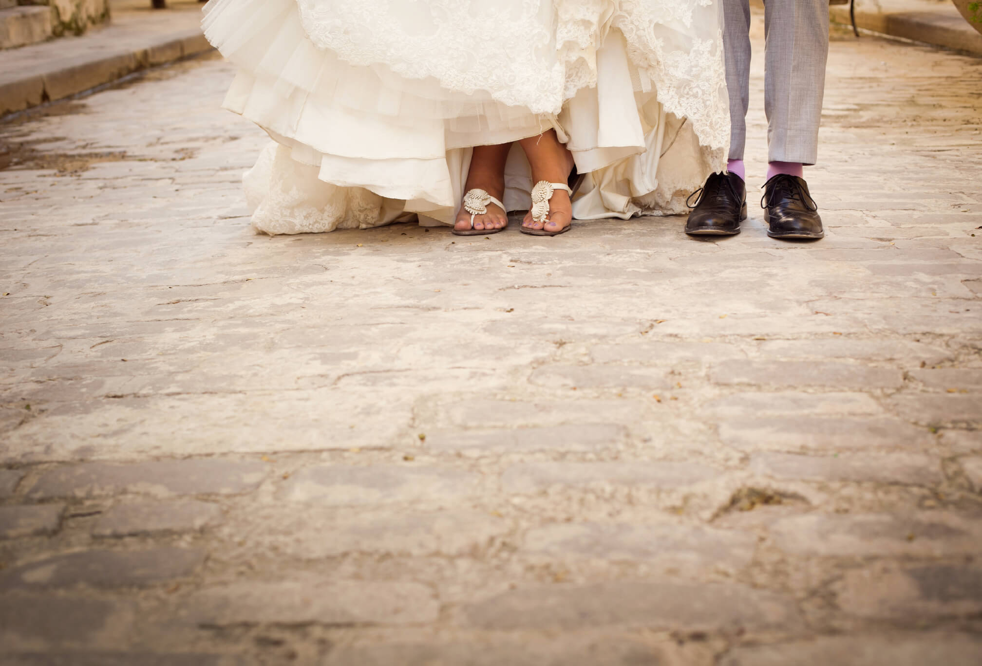 detail bride and groom shoes destination wedding