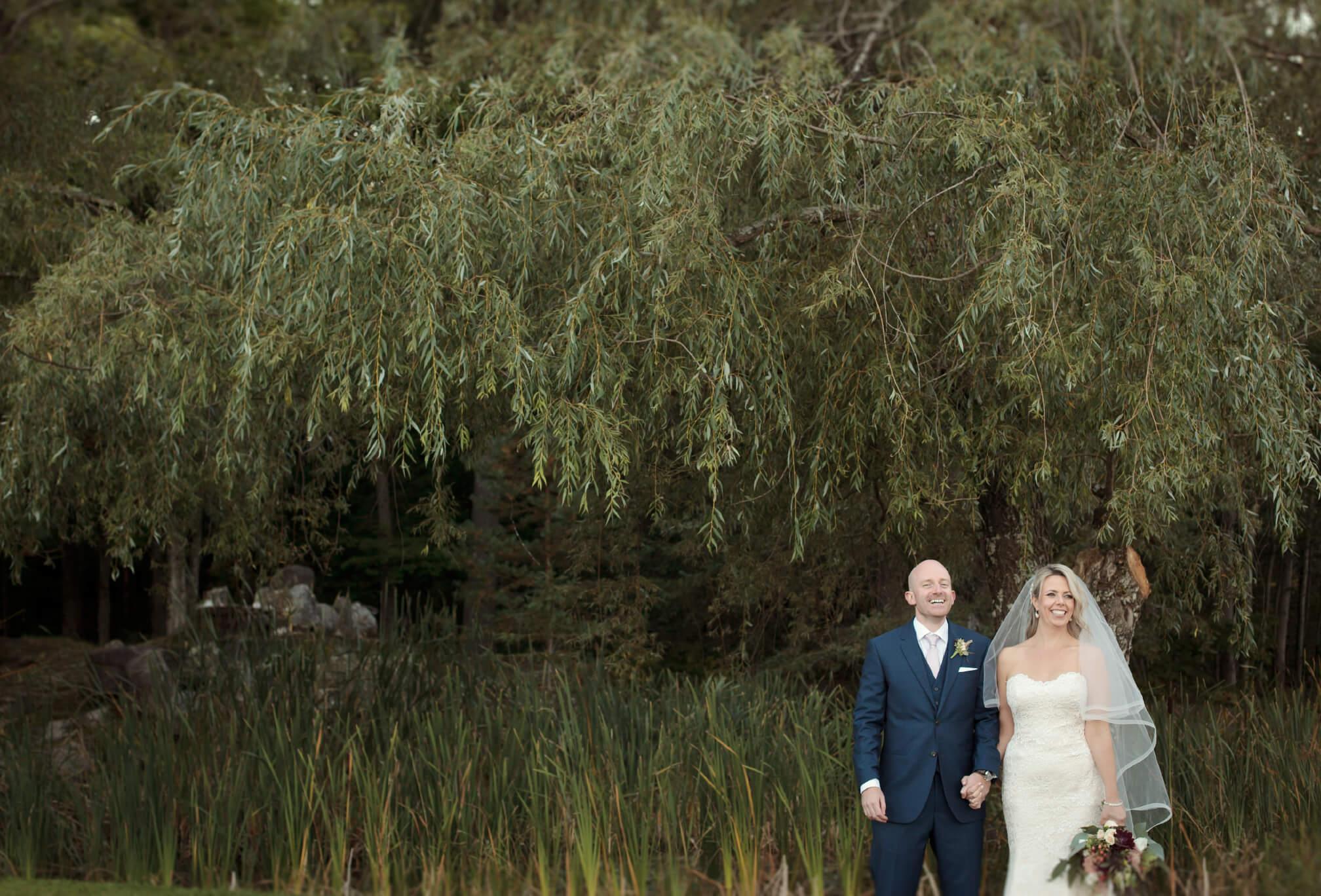foresrt backdrop wedding photography muskoka