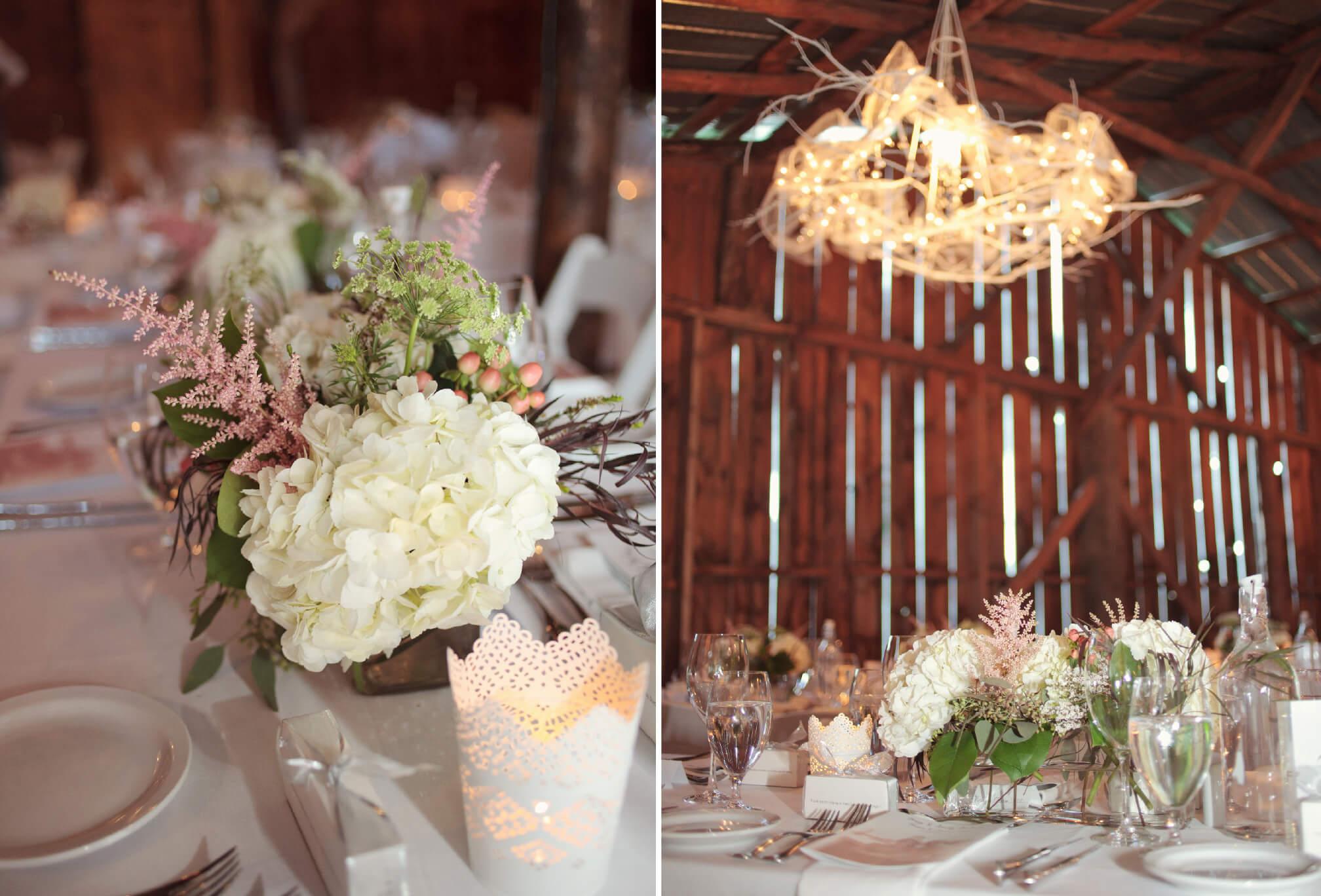 barn wedding decor cottage wedding muskoka