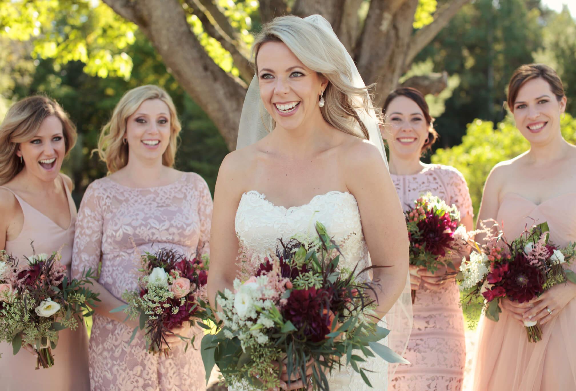 laughing bride muskoka wedding