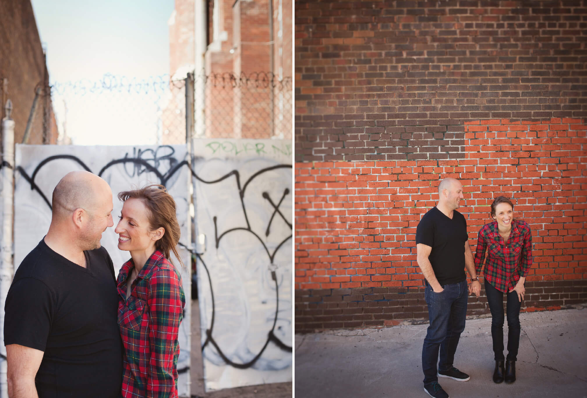 couple on queen street west engagement session
